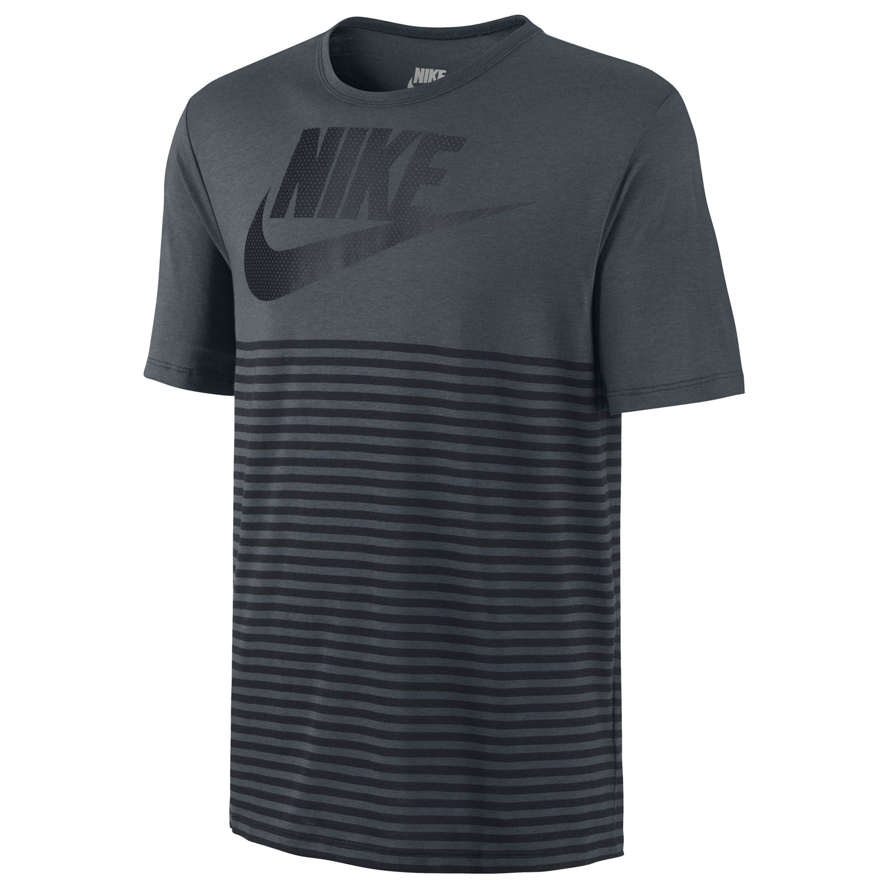 Nike Mesh Stripe TShirt Dk Grey