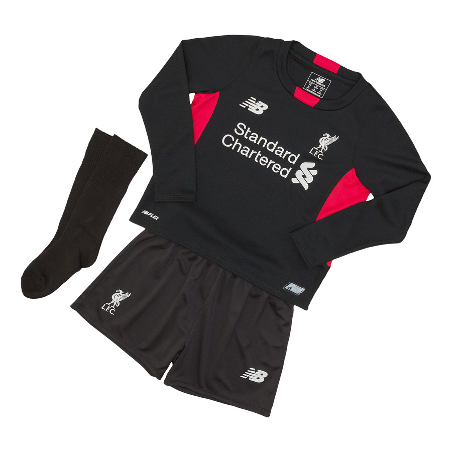 Liverpool Home Infant Goalkeeper Kit 201516 Black