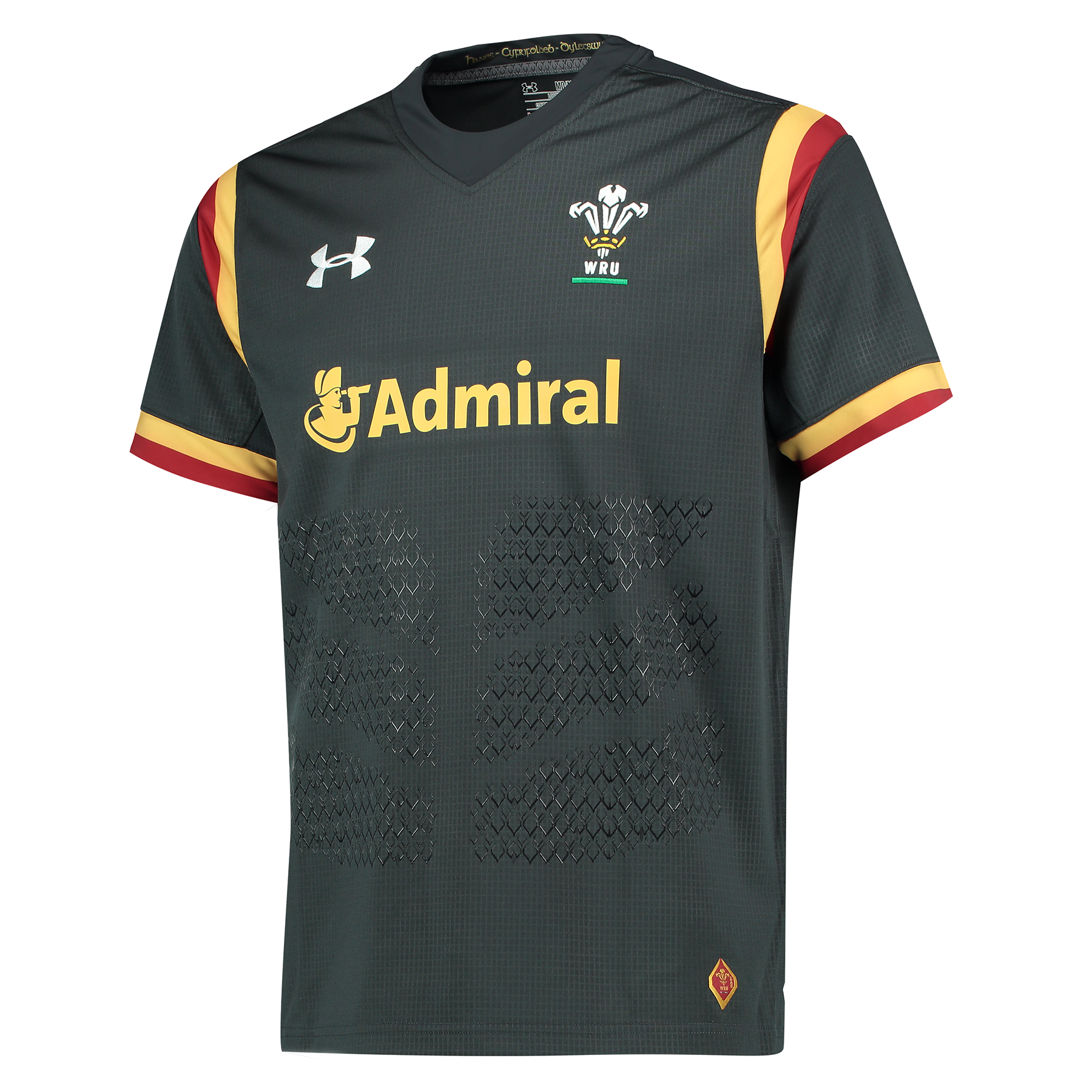 Wales Rugby Away Supporters Shirt 15/16 Charcoal