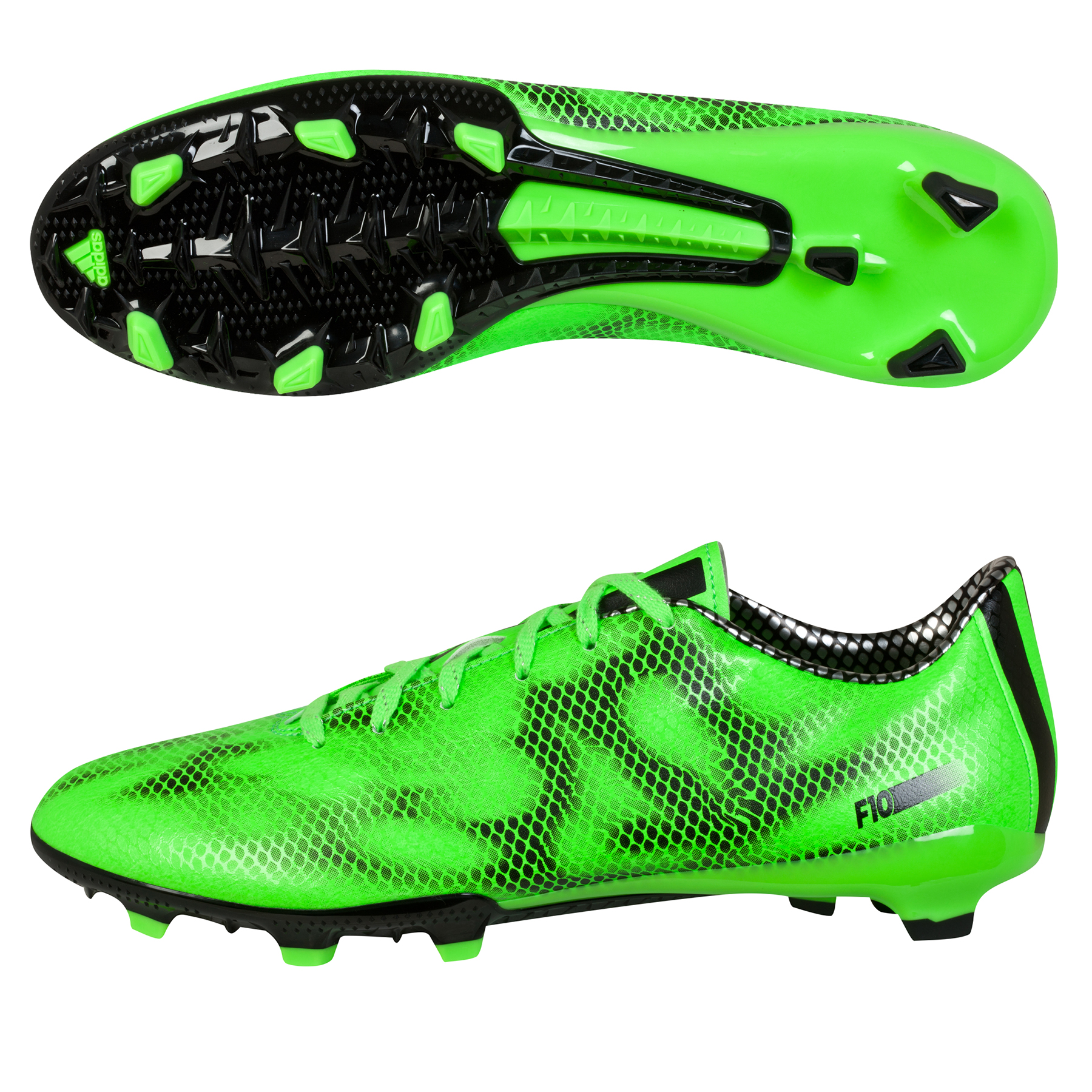 Adidas F10 Firm Ground Football Boots Green