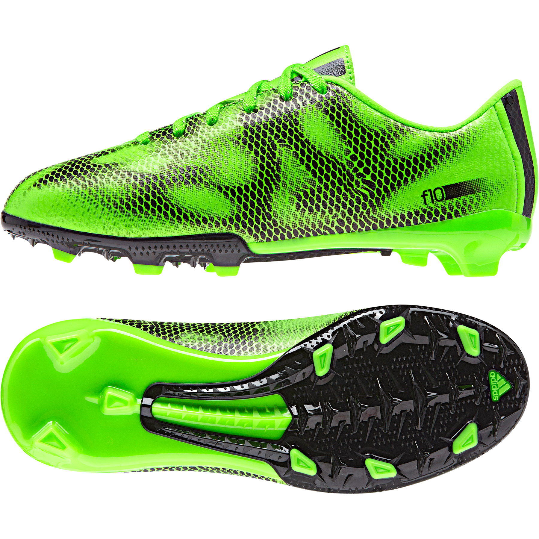 Adidas F10 Firm Ground Football Boots  Kids Green