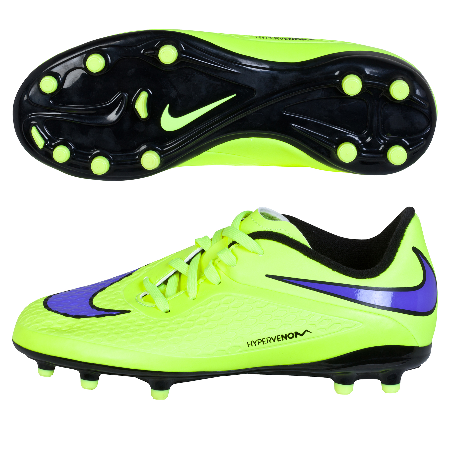Nike Hypervenom Phelon Firm Ground Football Boots  Kids Yellow