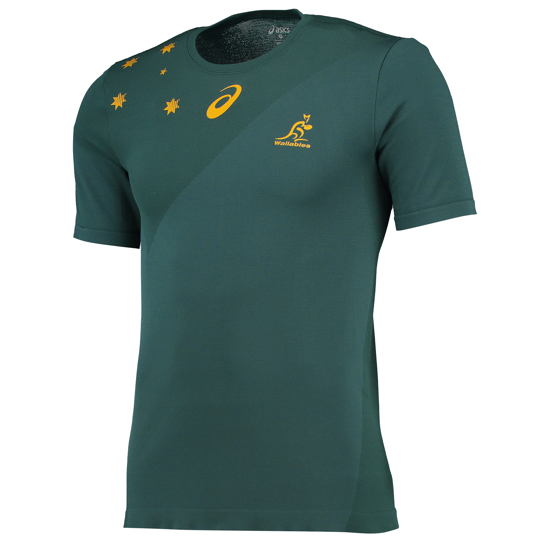 Australia Wallabies Rugby Match Day Training TShirt Green