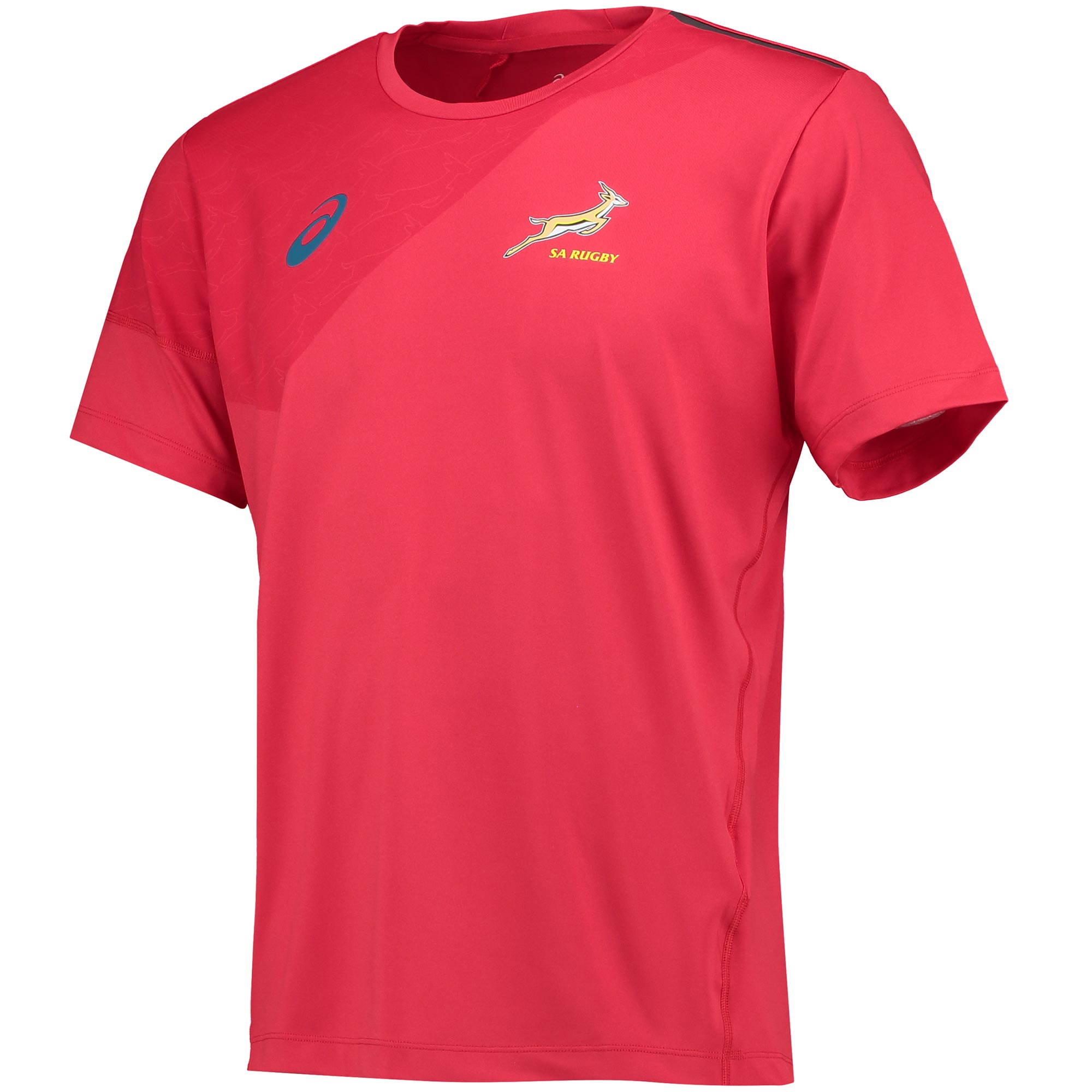 South Africa Springboks Rugby Short Sleeve Training T-Shirt Red