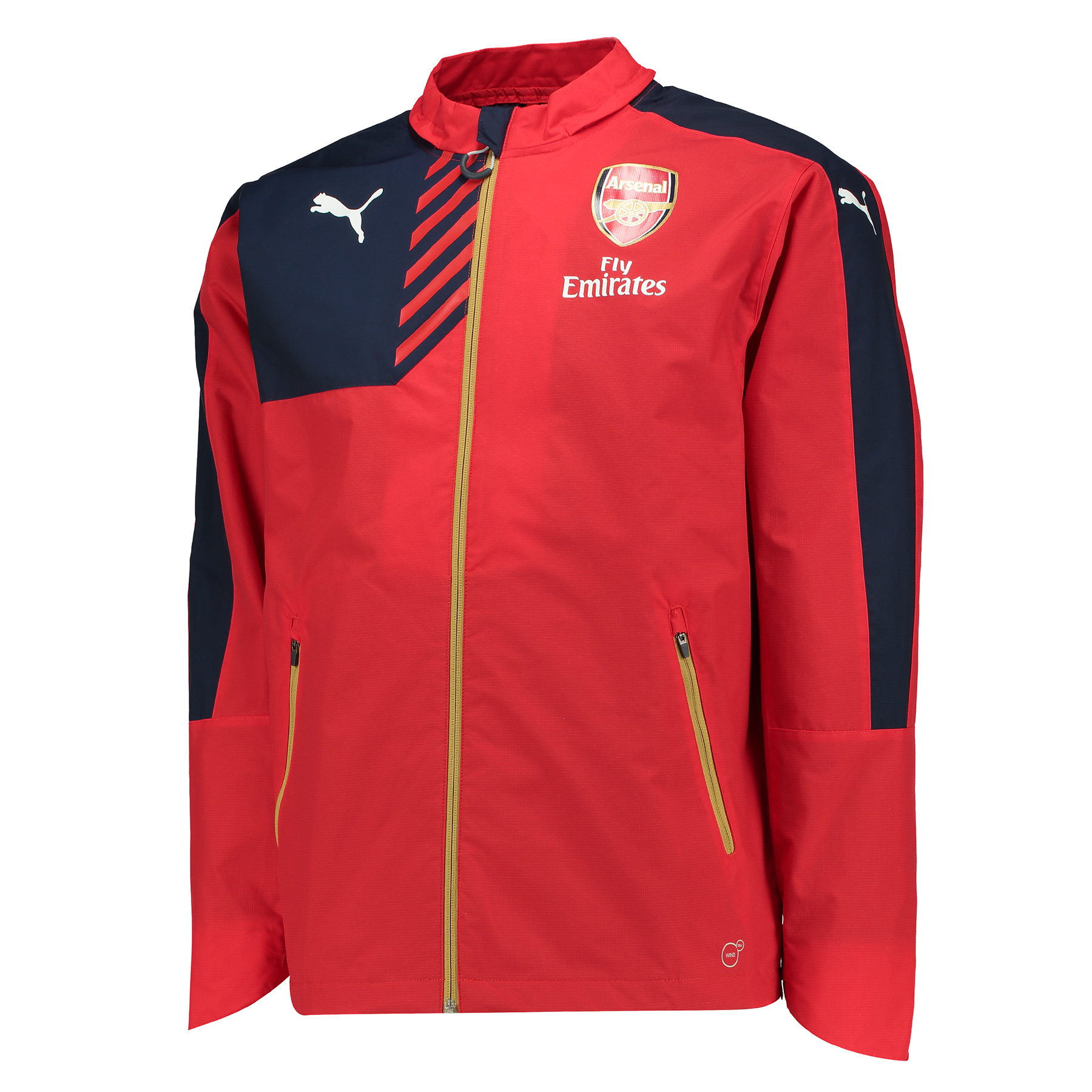 Arsenal Performance Rain Jacket Red
