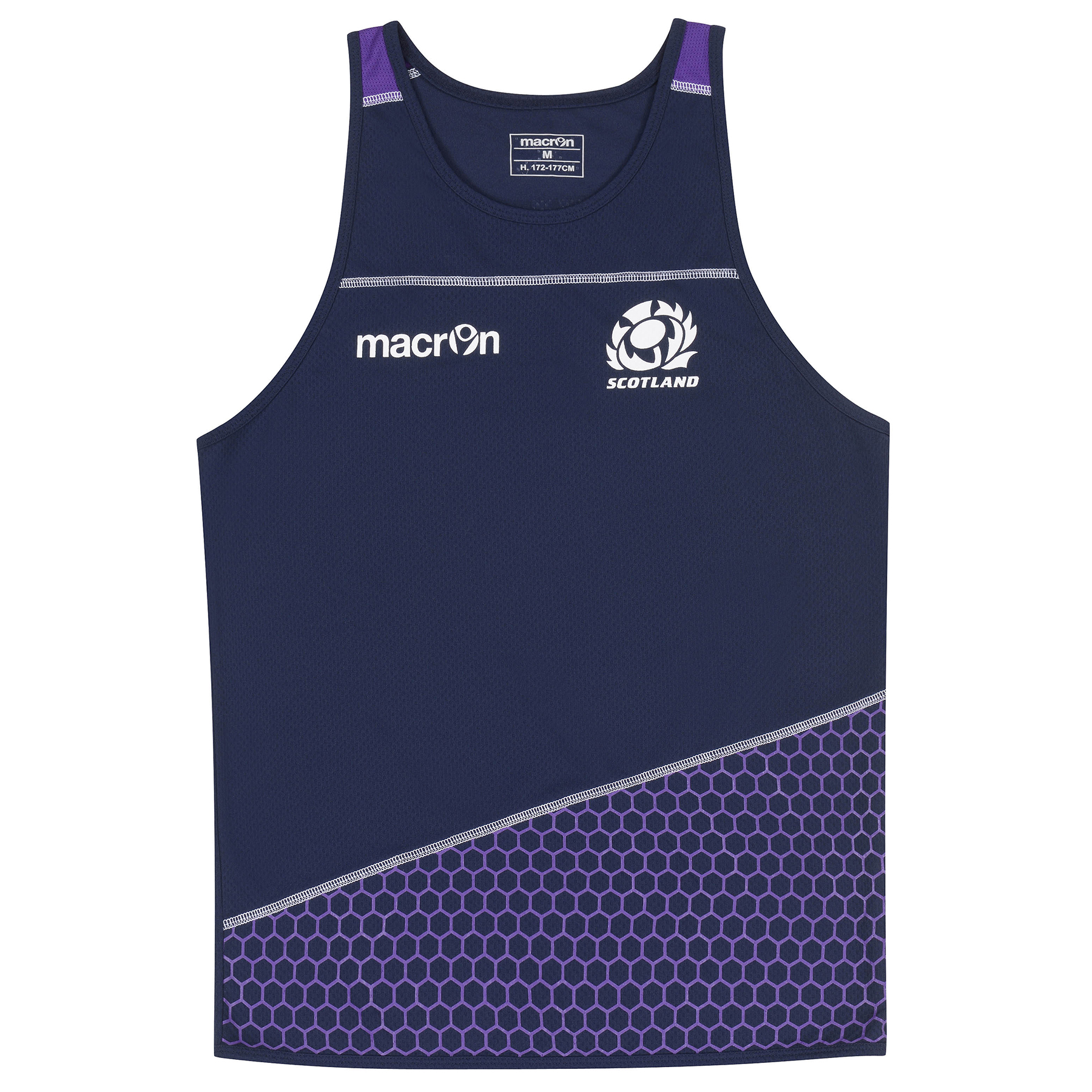 Scotland Rugby Poly Dry Training Vest 1516 Navy