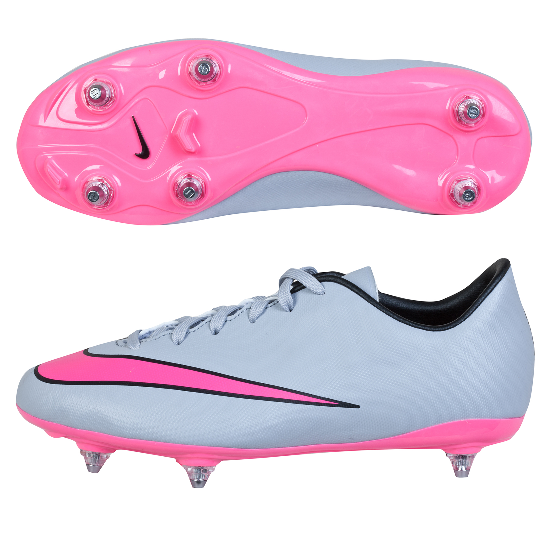 lowest price 878a3 7f81b Nike Mercurial Victory V SG Kids Football Boots Grey