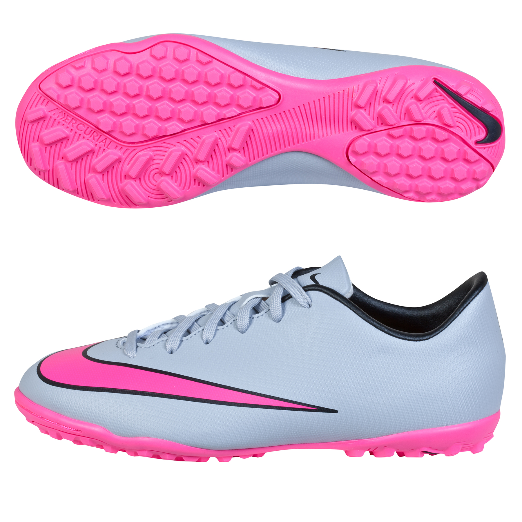 Nike Mercurial Victory V Astroturf Trainers  Kids Lt Grey