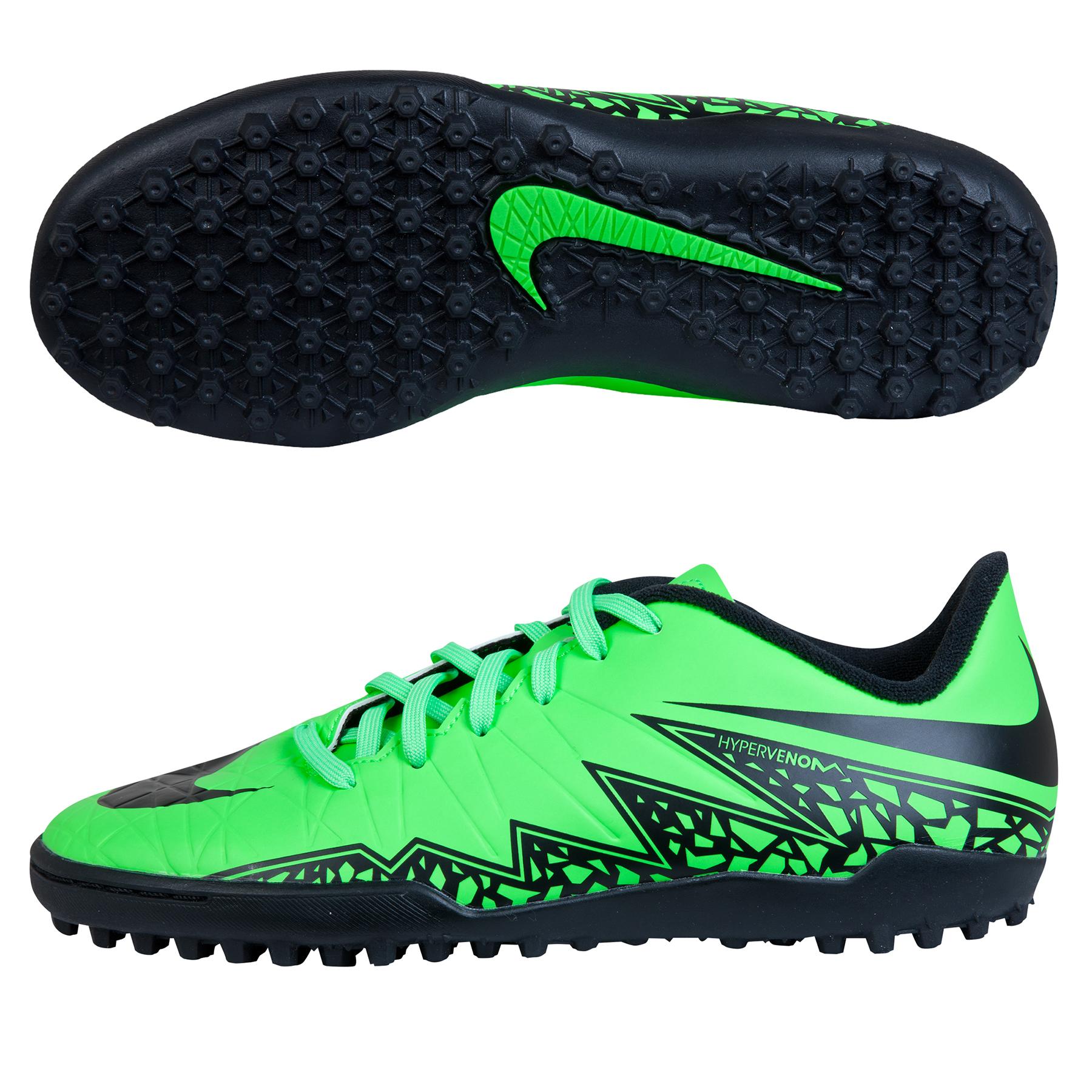 Nike Hypervenom Phelon II Astroturf Trainers  Kids Lt Green