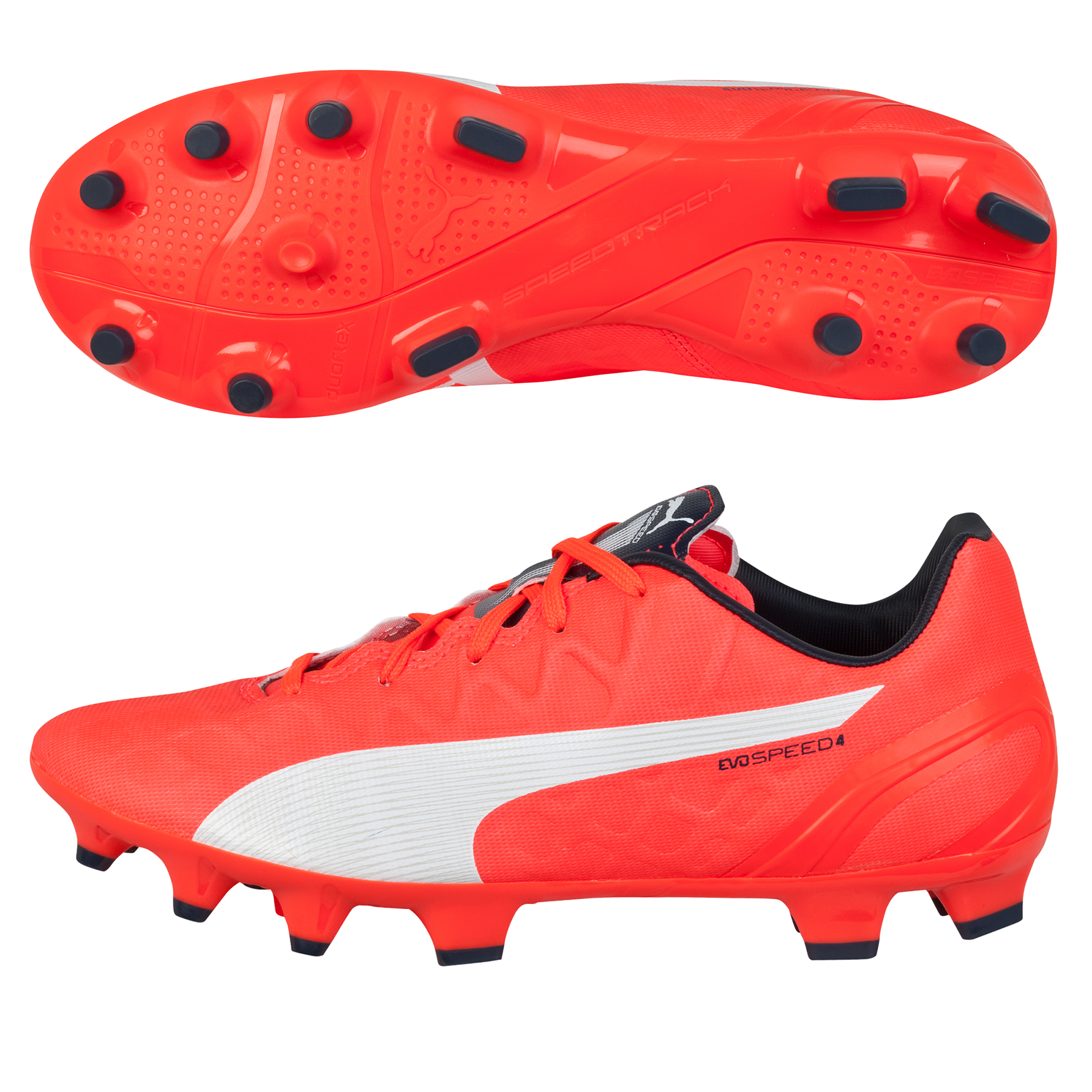 Puma evoSPEED 4.4 Firm Ground Football Boots  Kids Orange