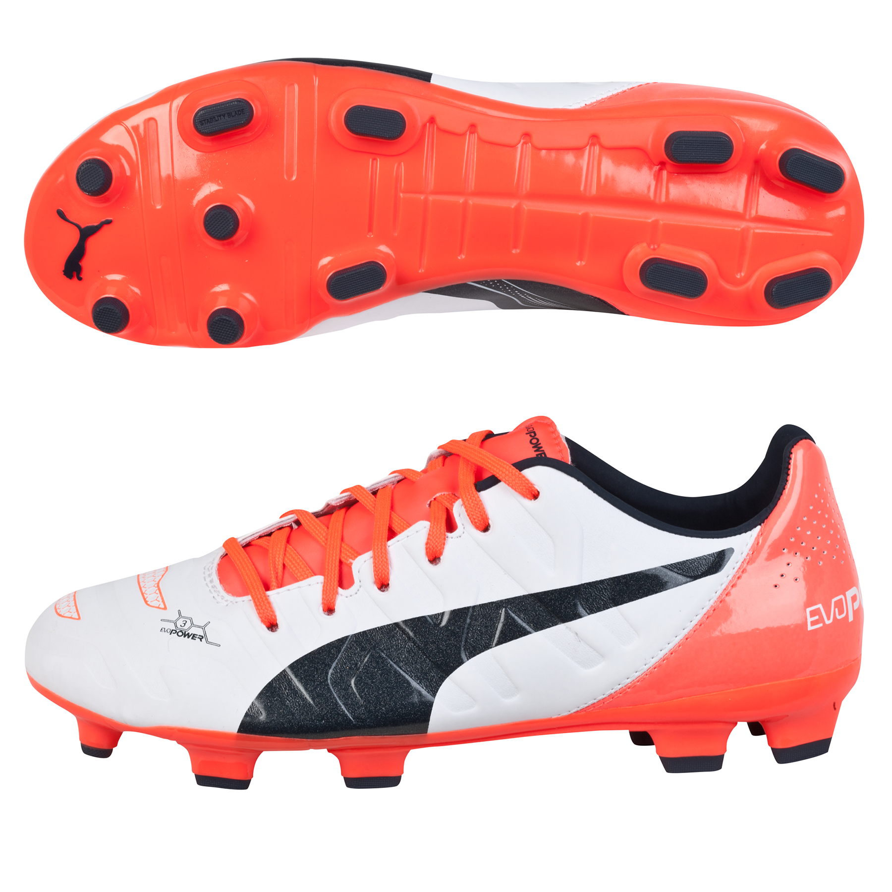 Puma evoPOWER 3.2 Firm Ground Football Boots  Kids White