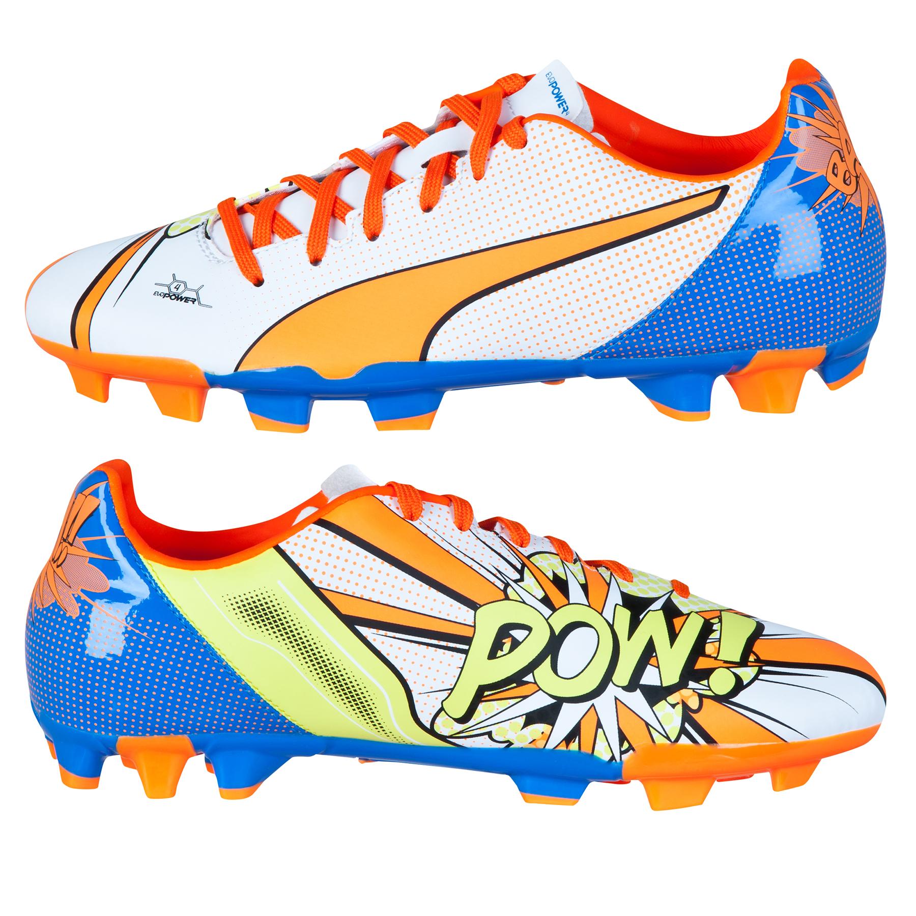 Puma evoPOWER 4.2 POP Firm Ground Football Boots  Kids White