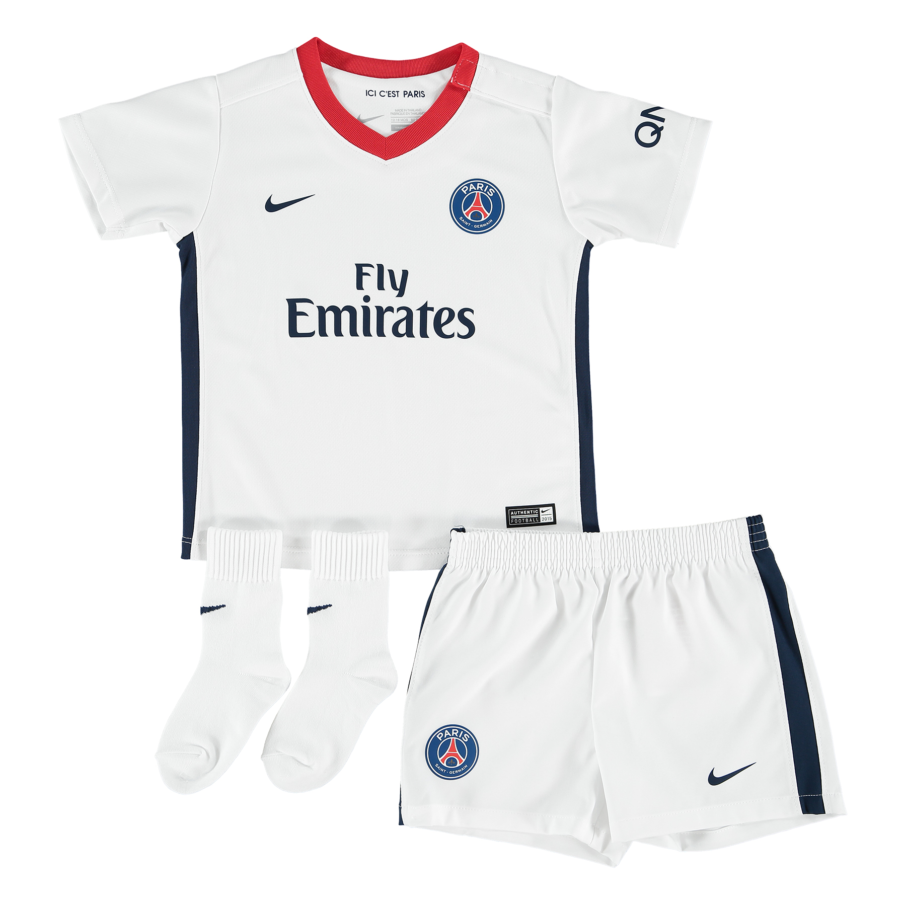 Paris SaintGermain Away Kit 201516  Infants White