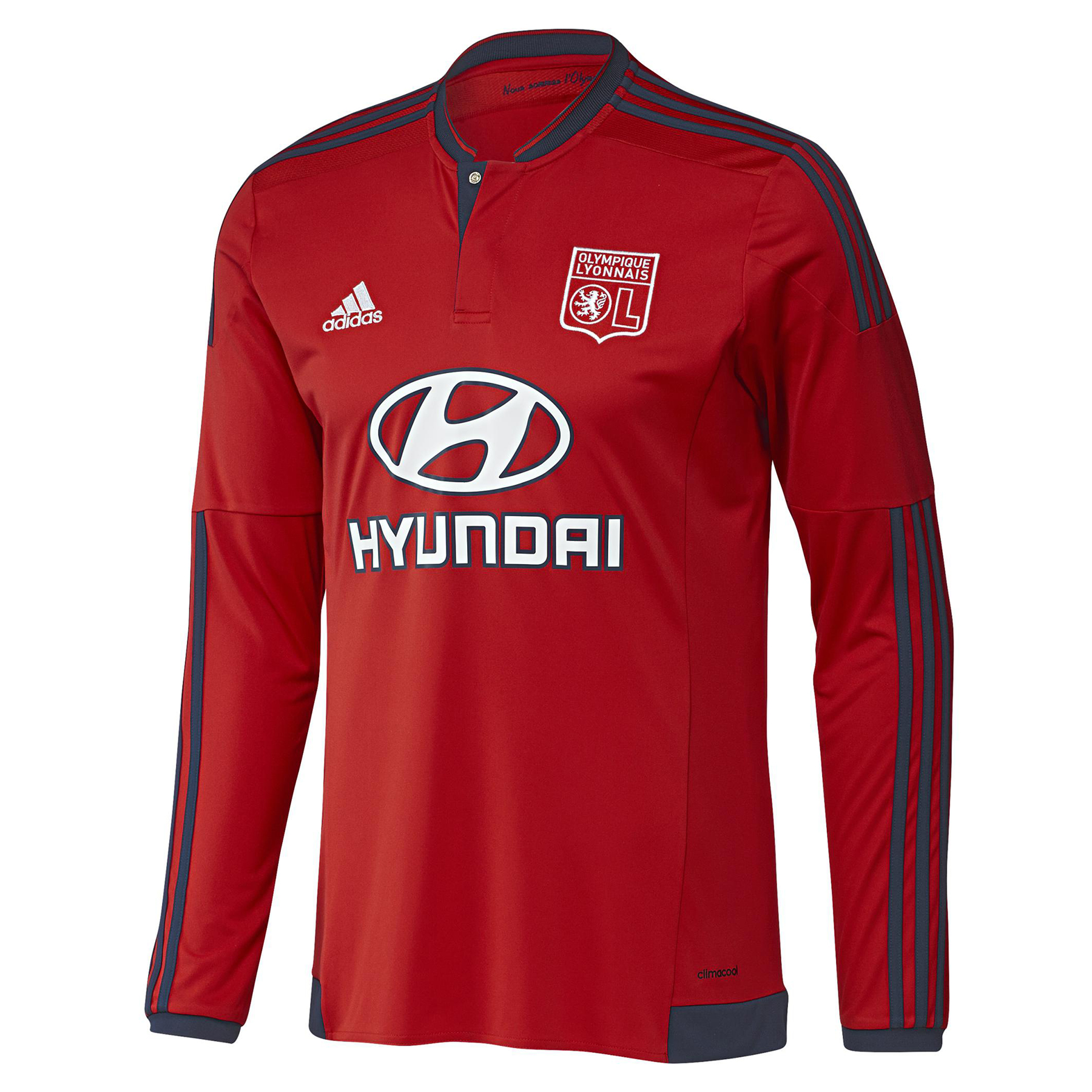 Olympique Lyon Away Shirt 201516  Long Sleeve Red