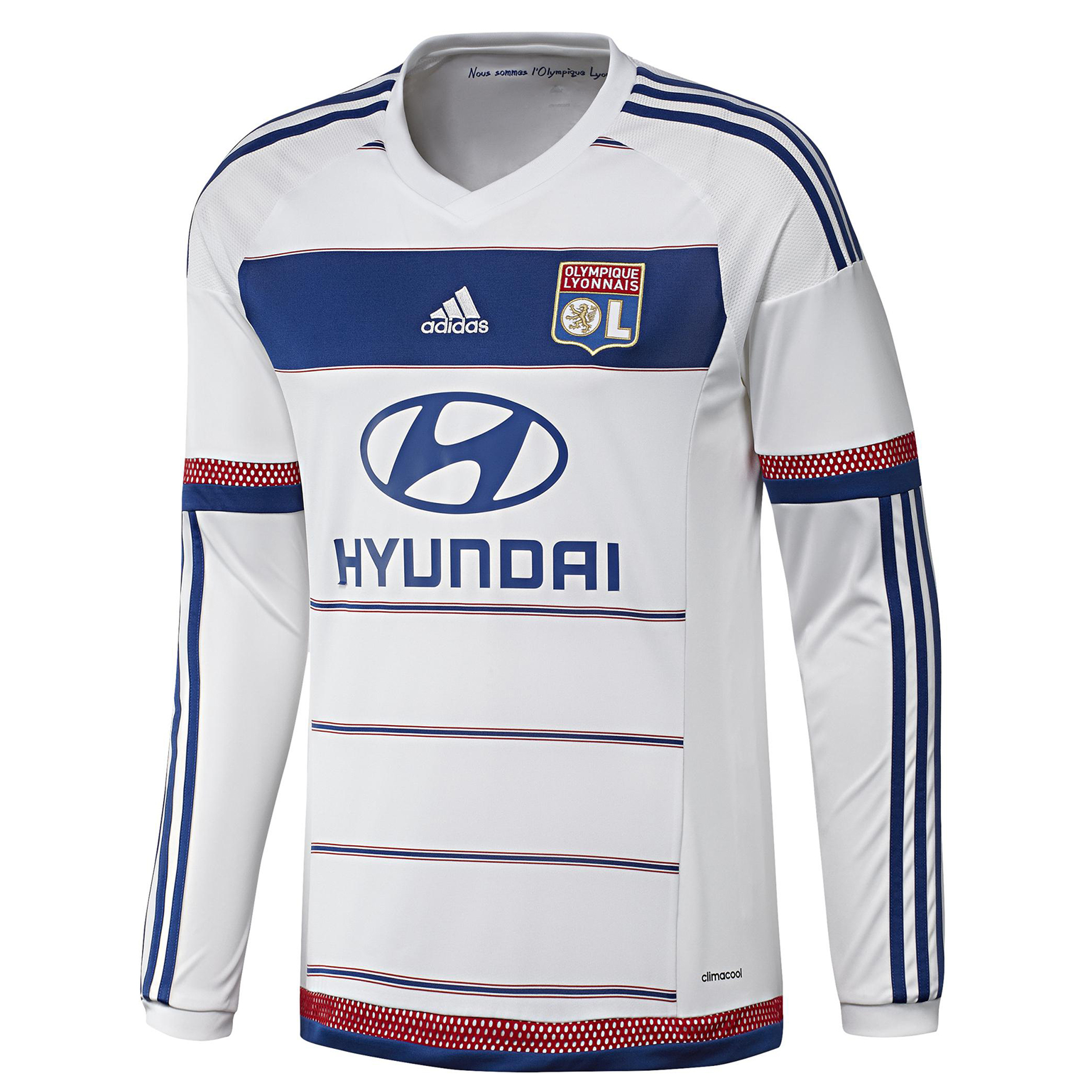 Olympique Lyon Home Shirt 201516  Long Sleeve White