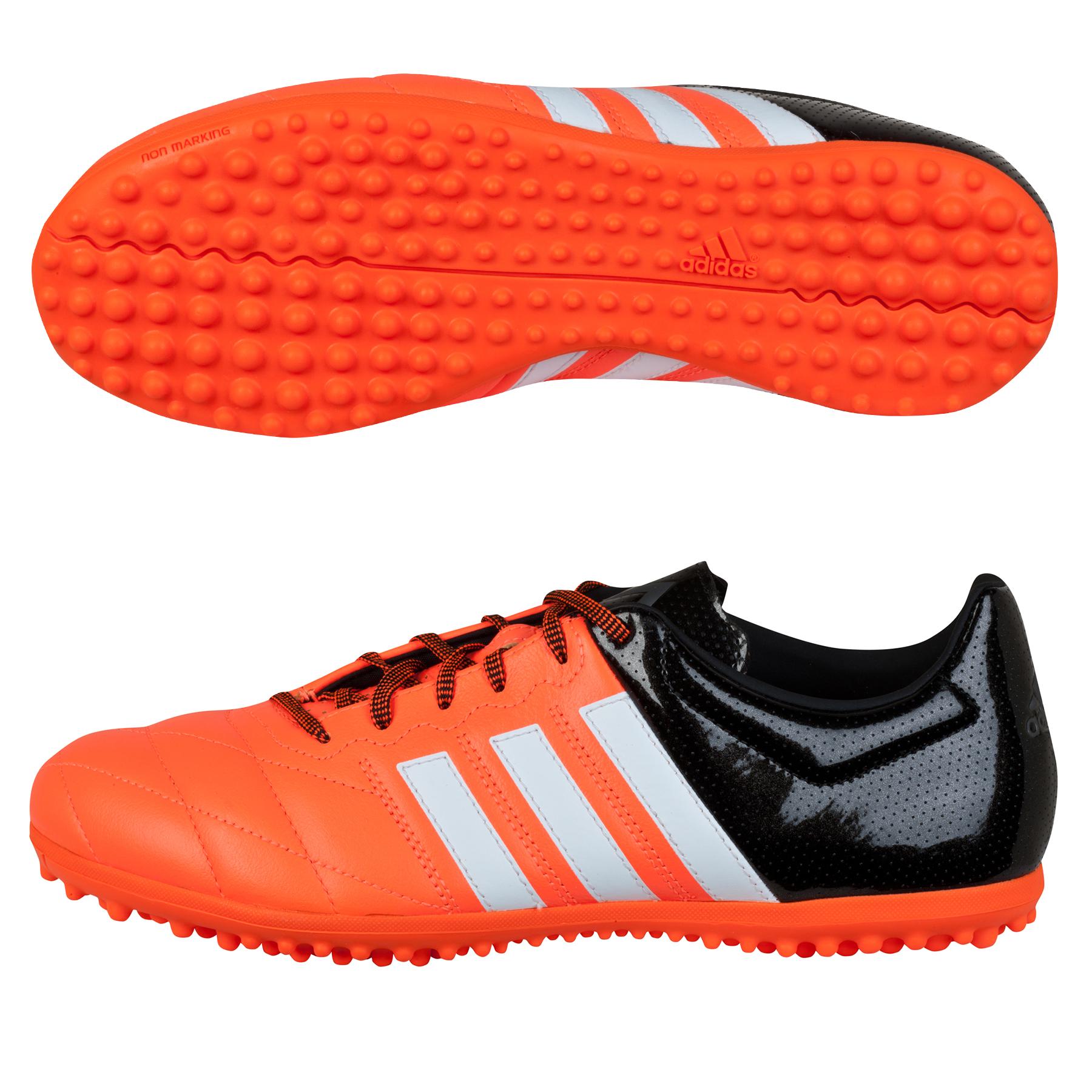 adidas ACE 15.3 Leather Astroturf Trainers – Kids Orange