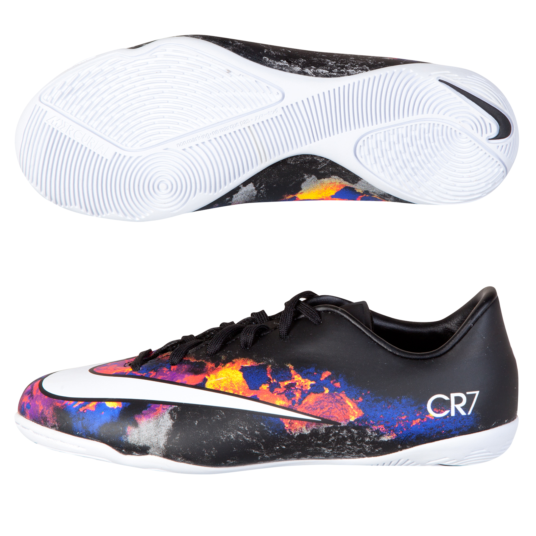 Nike Mercurial Victory V CR7 Indoor Court Trainers  Kids Black