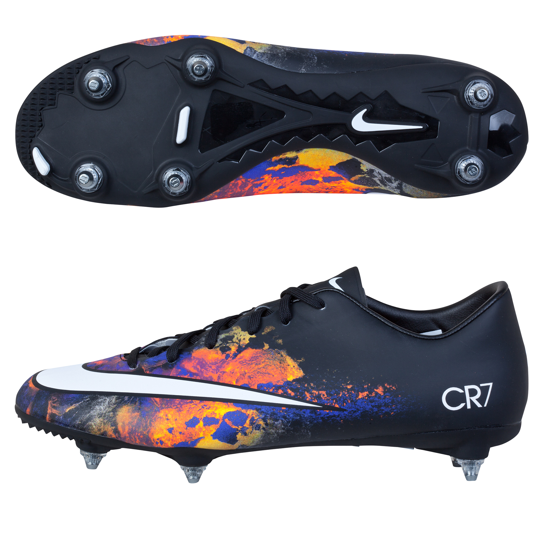 Nike Mercurial Victory V CR7 Soft Ground Football Boots Black