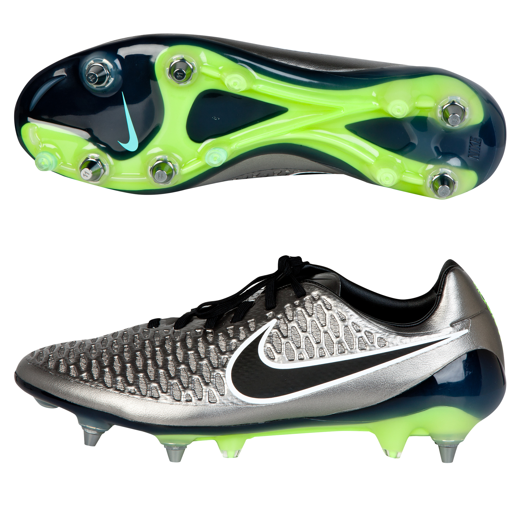 énorme réduction 259fa 0346a Nike Magista Opus SG Football Boots Silver