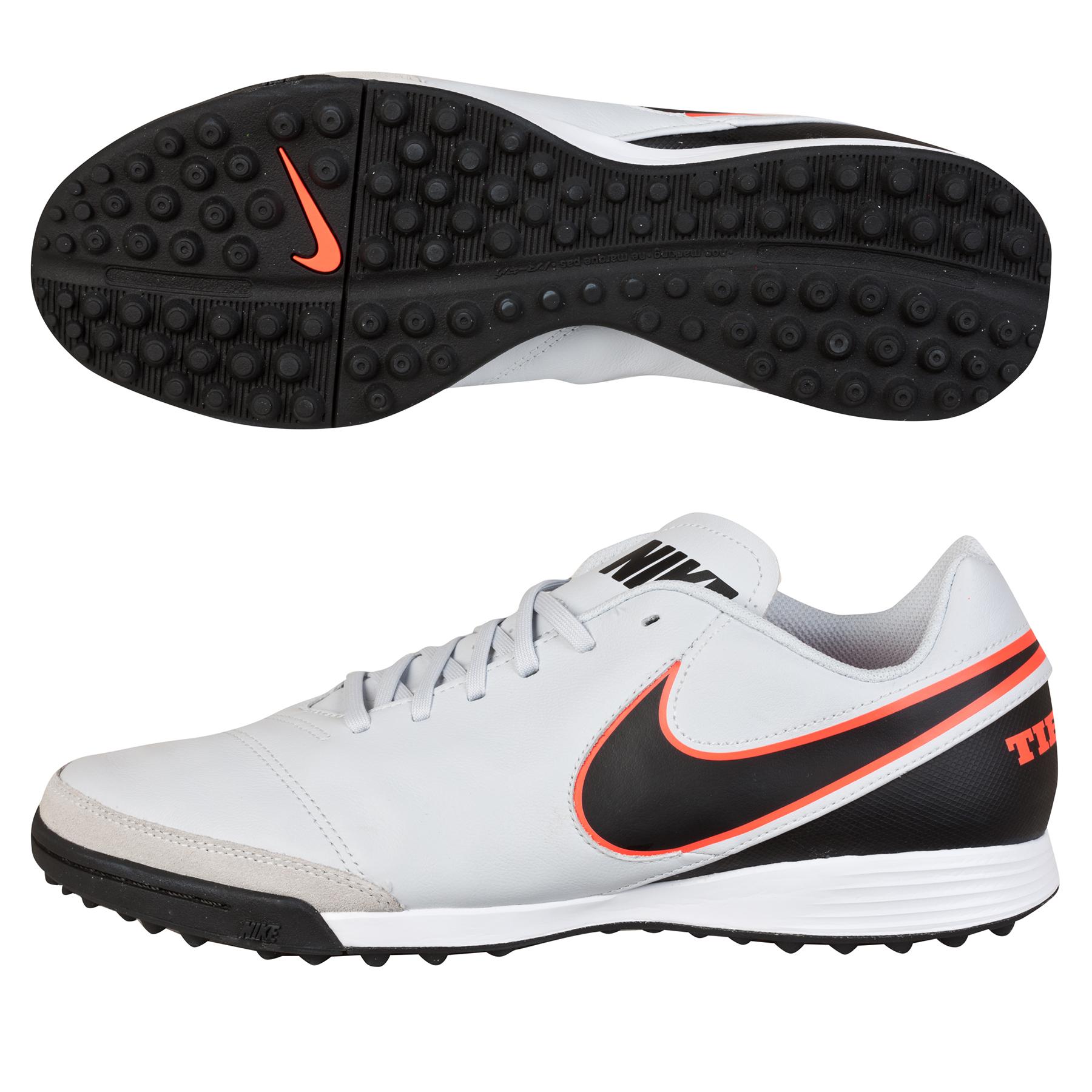 Nike Tiempo Genio II Leather Astroturf Trainers Grey
