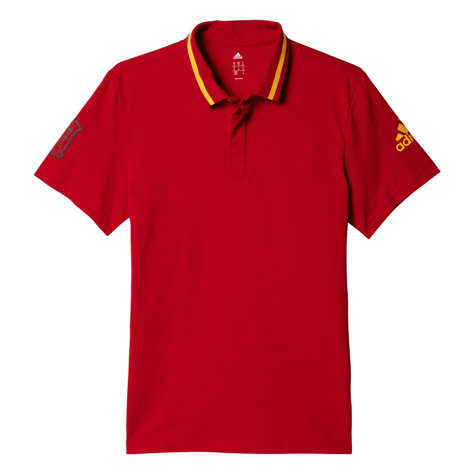 Football Spain Anthem Polo Red