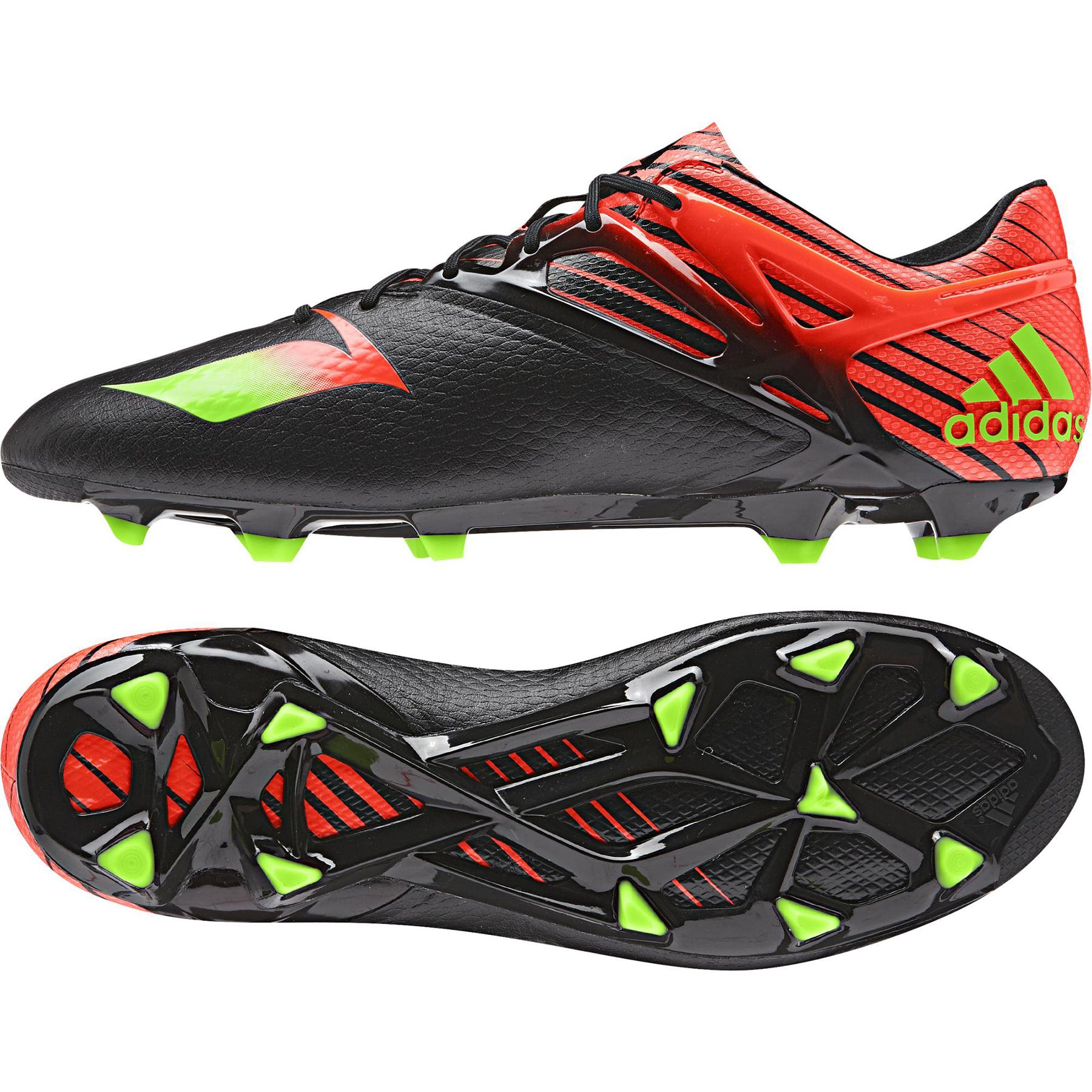 adidas Messi 15.1 Firm Ground Football Boots  Black Black