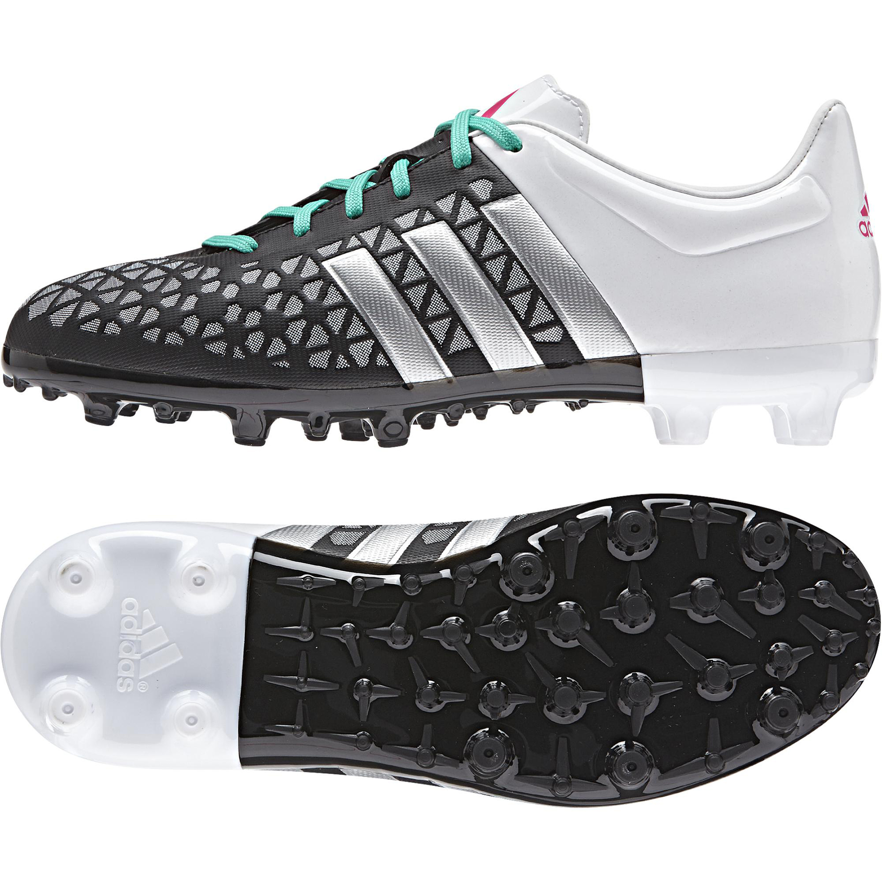 adidas Ace 15.3 Firm Ground Football Boots  Kids Black