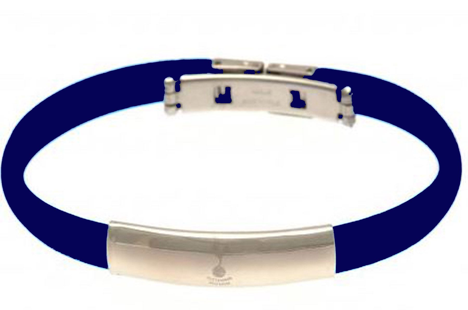 Men's Jewellery Tottenham Hotspur Crest Rubber Band Bracelet - Stainless Steel