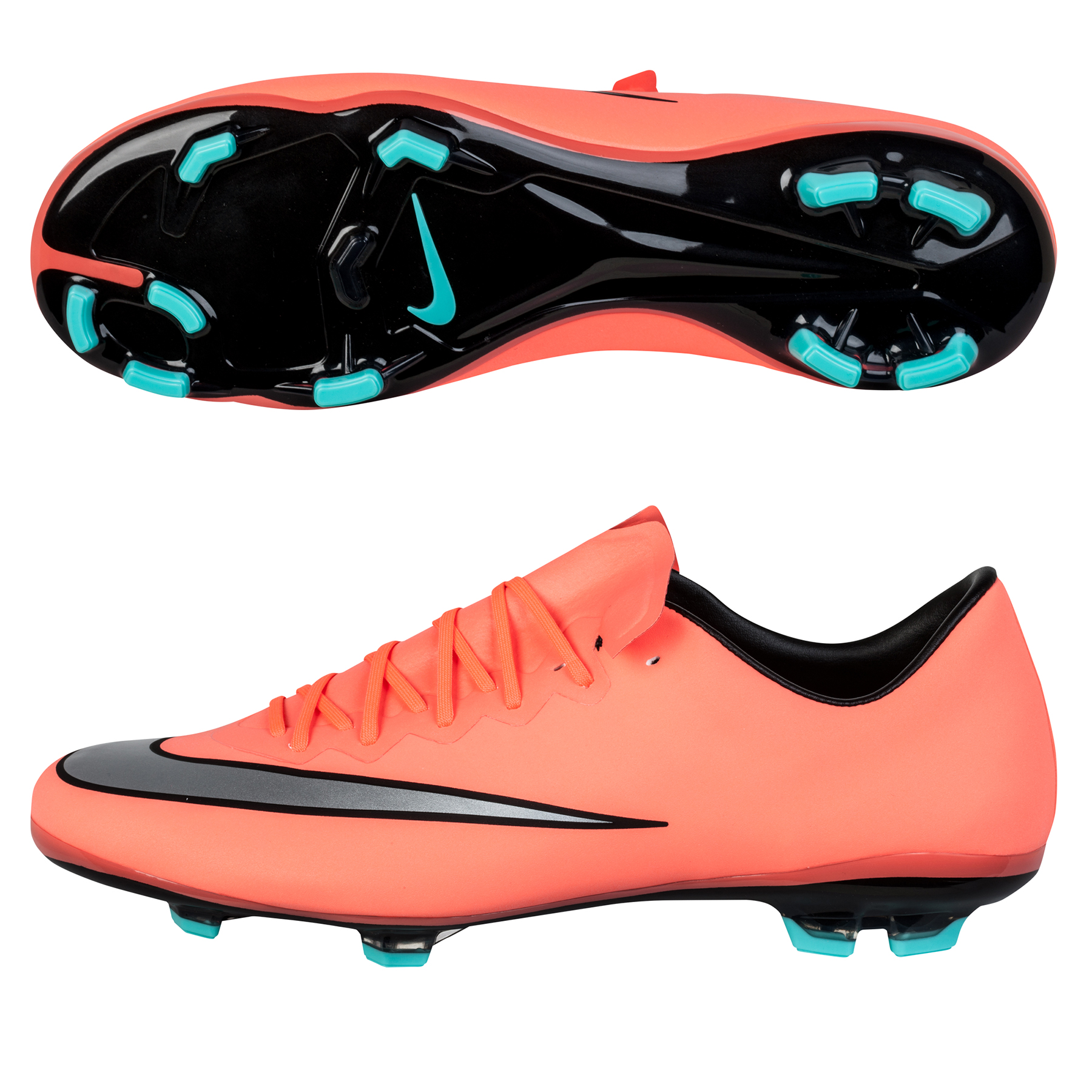 Nike Mercurial Vapor X Firm Ground Football Boots  Kids Orange