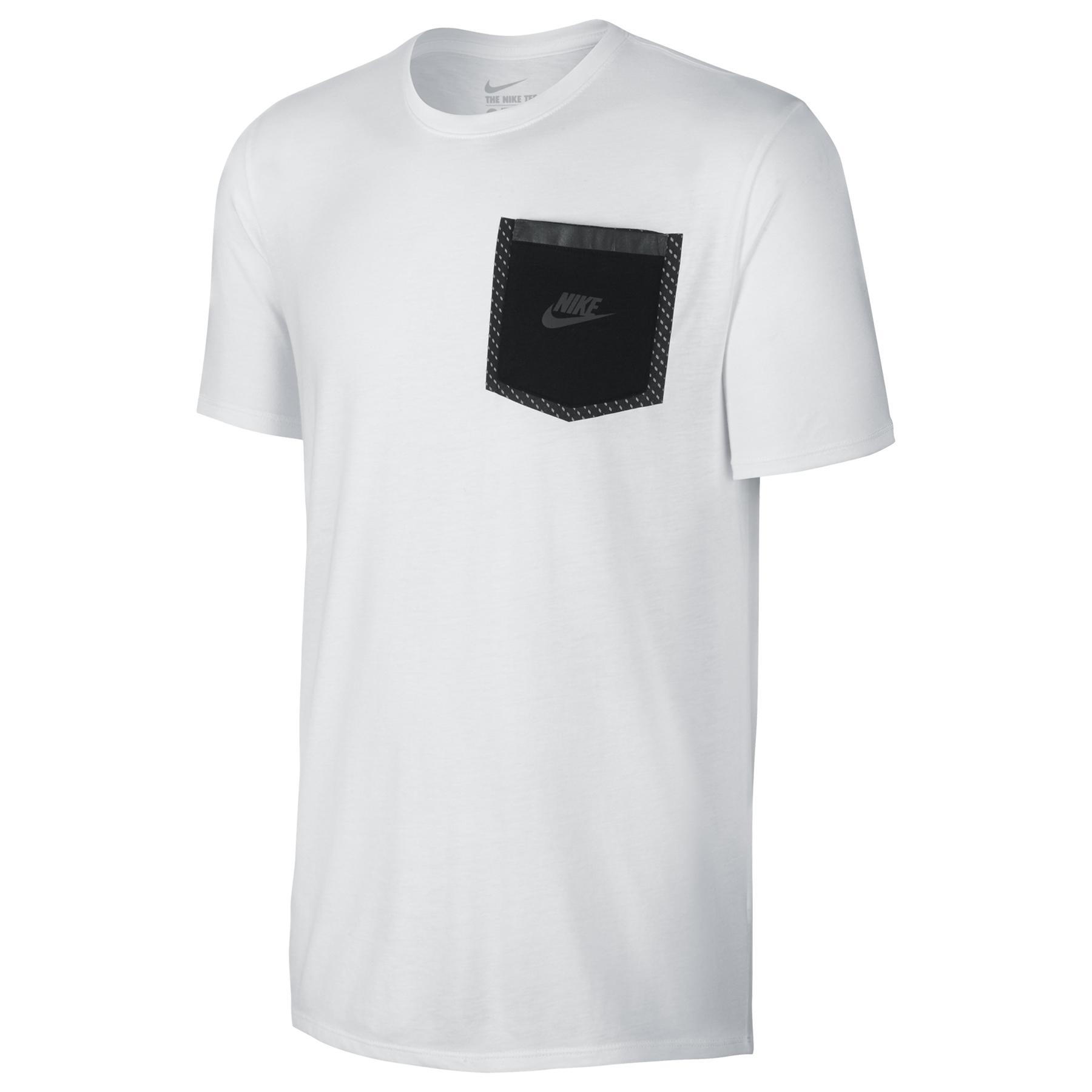Image of Nike Reflective Pocket T-Shirt White, White