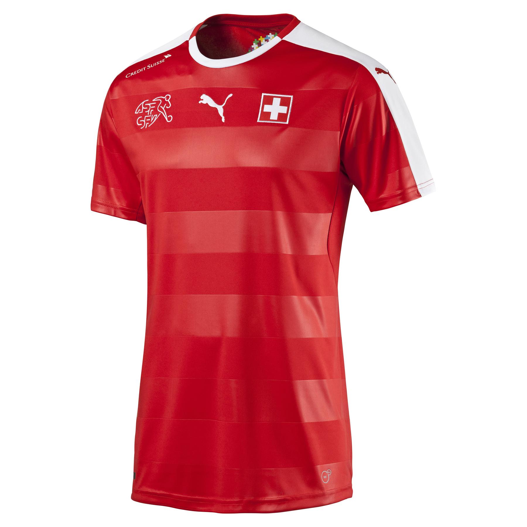 Switzerland Home Shirt 2016 Red