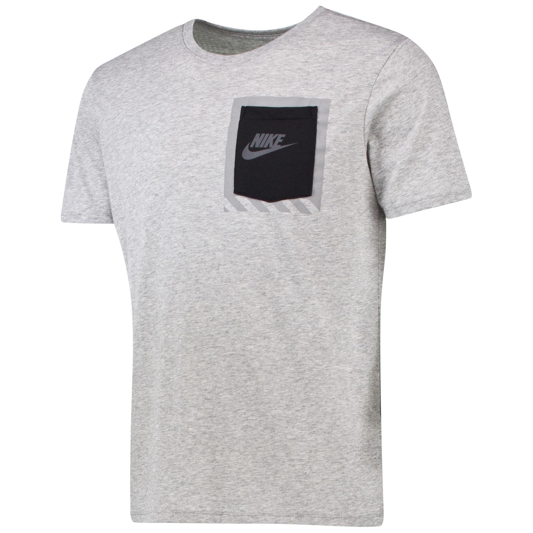 Image of Nike Bonded Box Pocket T-Shirt Dk Grey, Grey