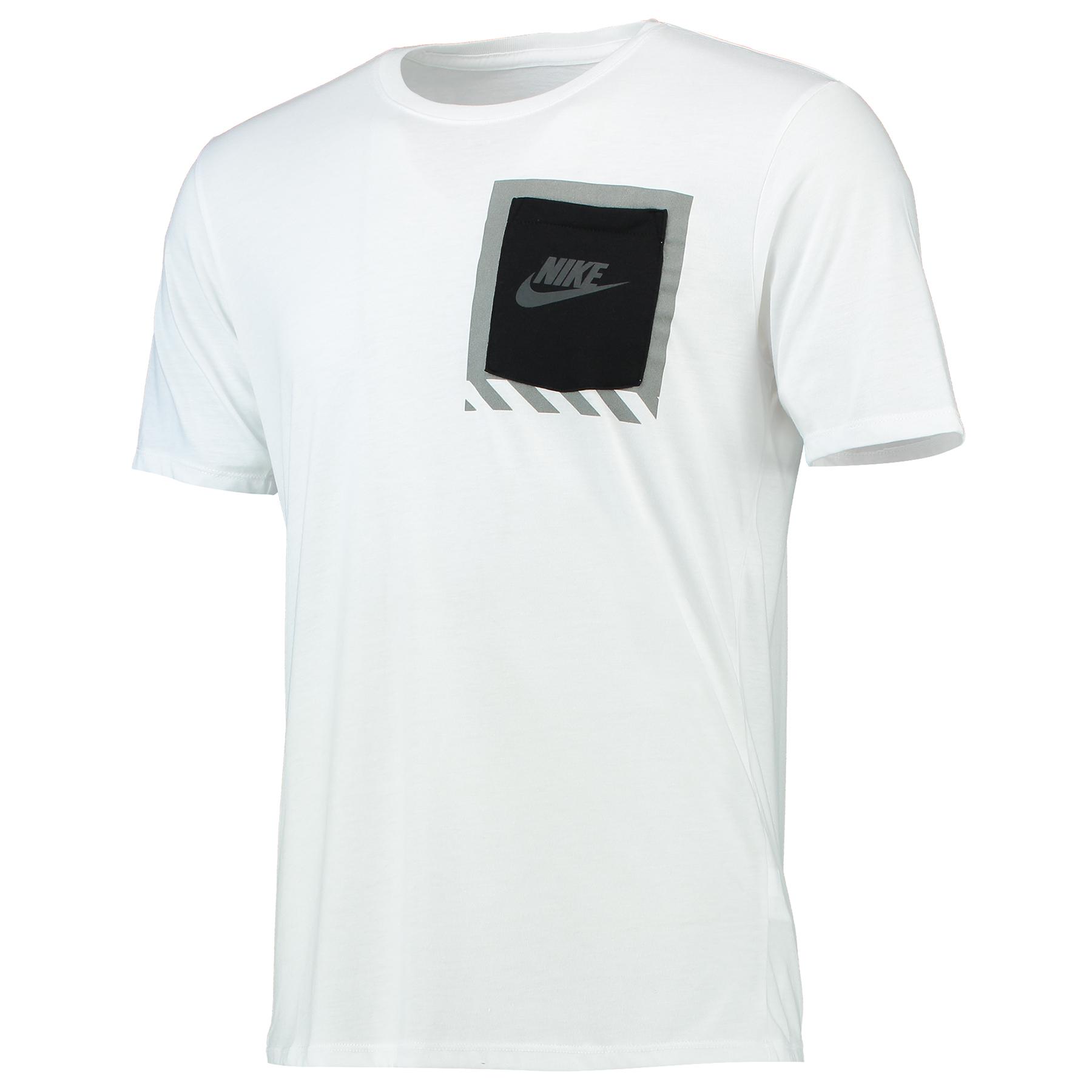 Image of Nike Bonded Box Pocket T-Shirt White, White