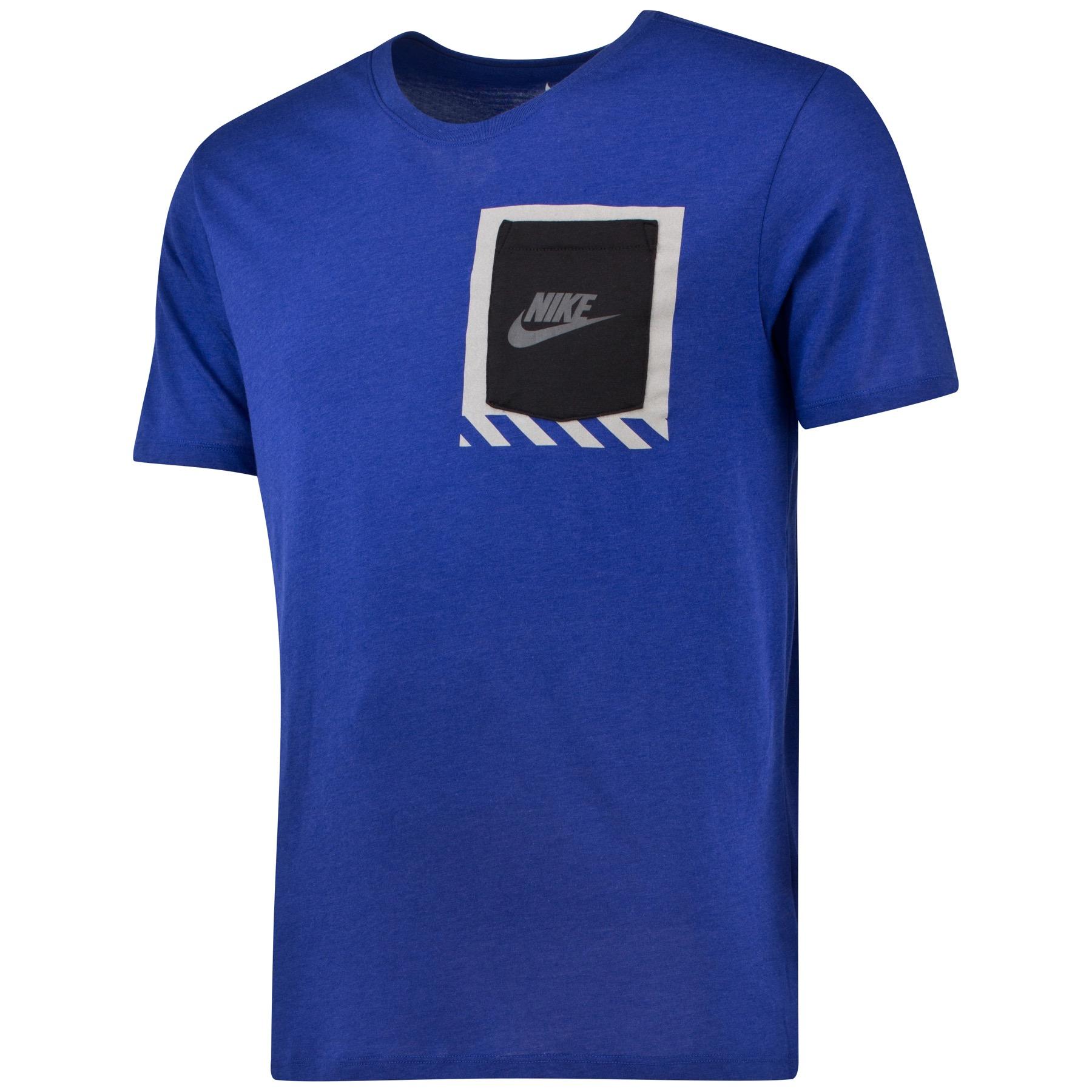 Image of Nike Bonded Box Pocket T-Shirt Royal Blue, Blue