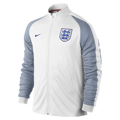 England Authentic N98 Track Jacket White