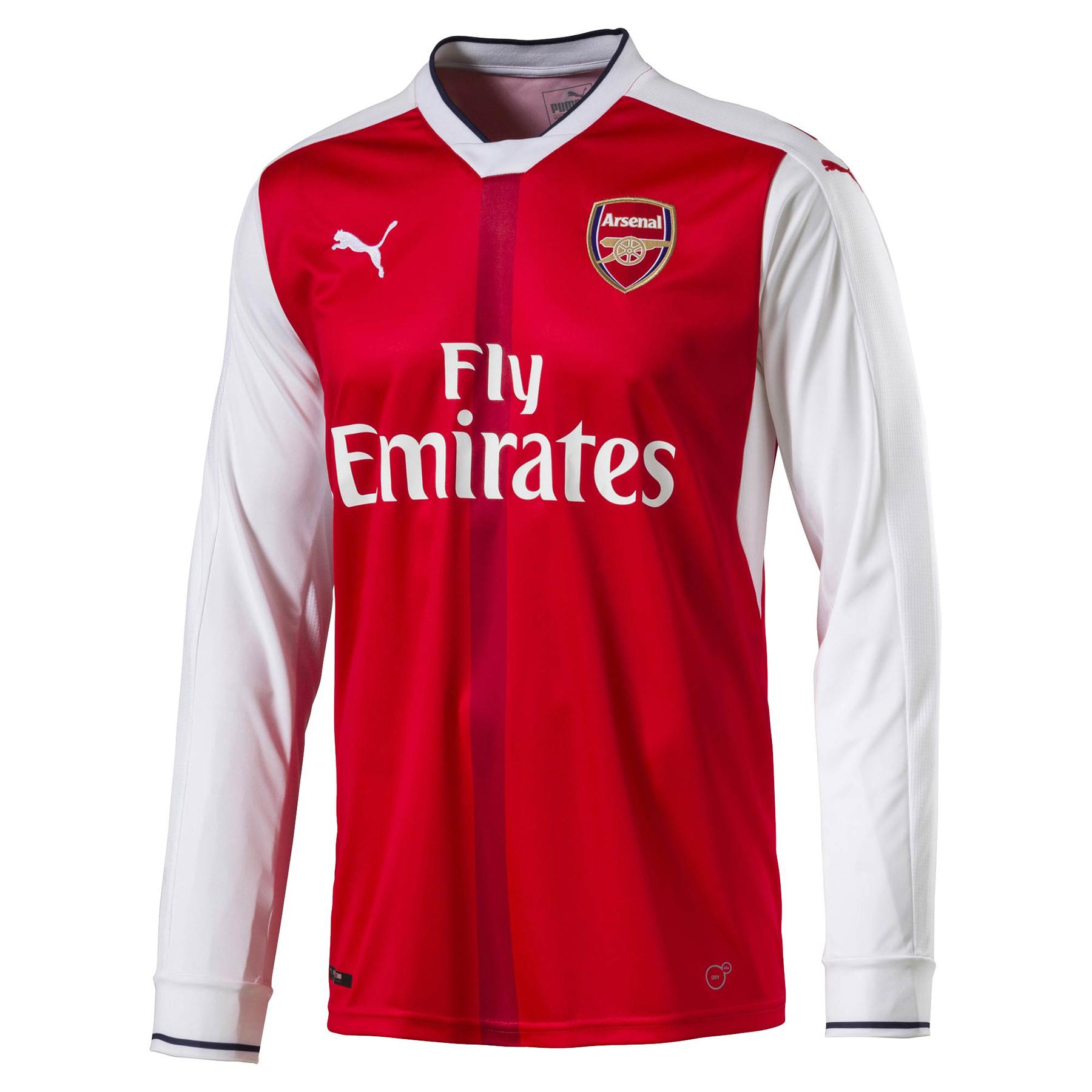 Arsenal Home Shirt 2016-17 - Long Sleeve - Kids, Red