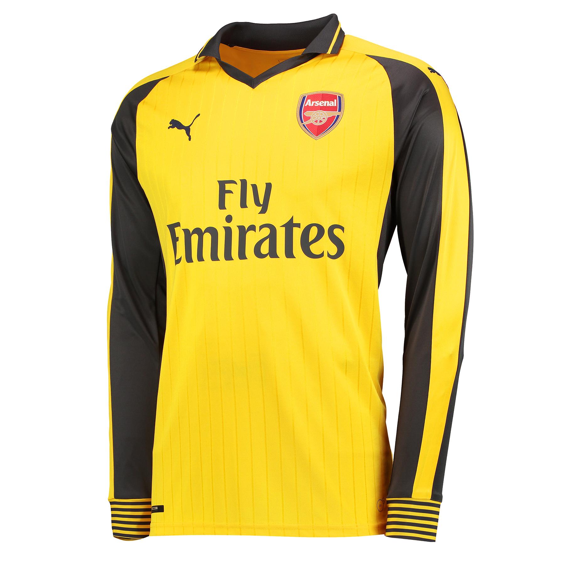 Arsenal Away Shirt 2016-17 - Long Sleeve - Kids, Yellow
