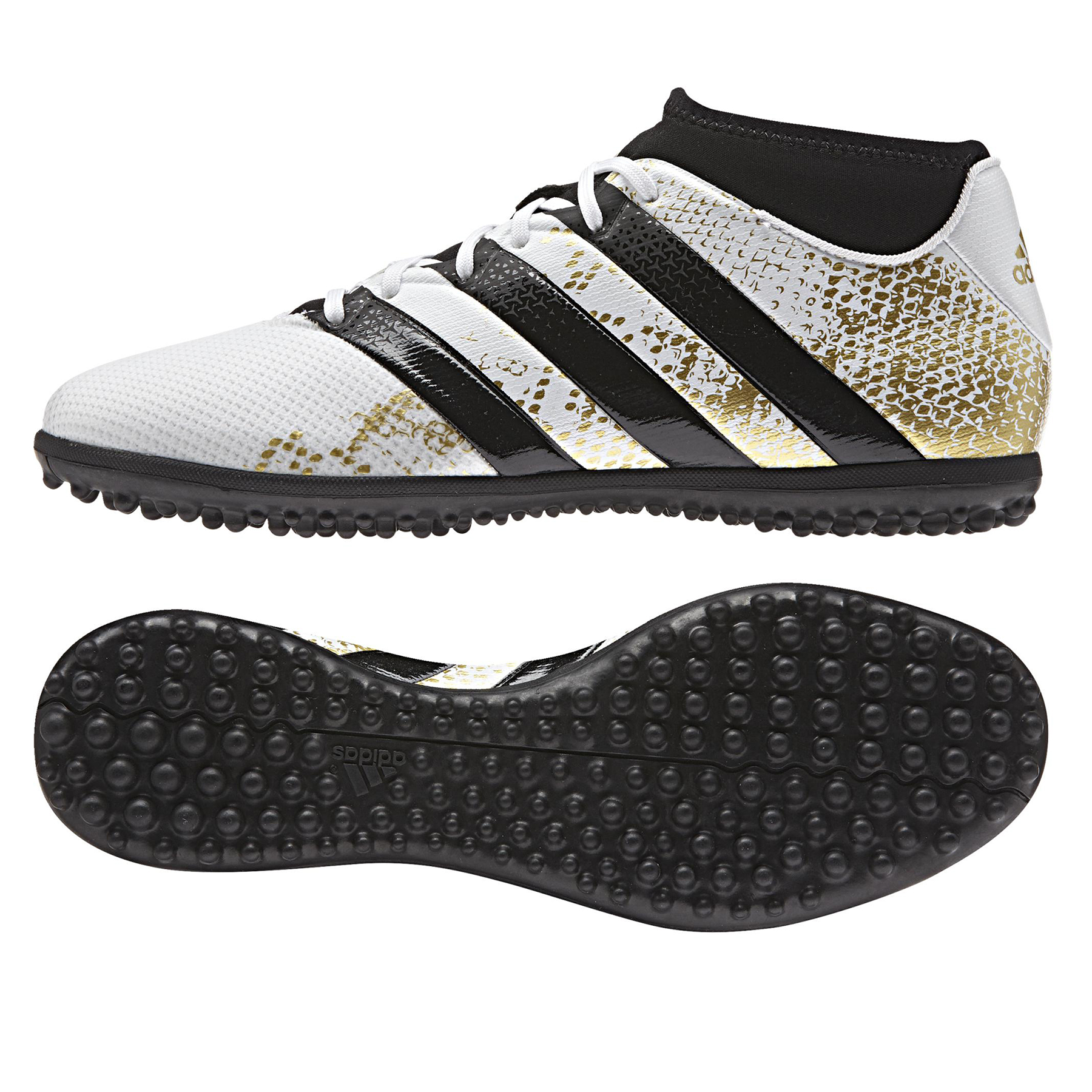 adidas Ace 16.3 PrimeMesh Astroturf Trainers - White/Gold Metallic/Cor