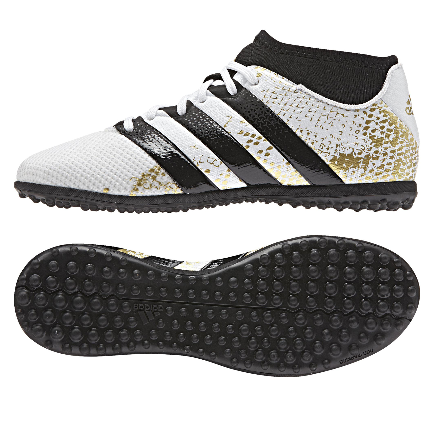 adidas Ace 16.3 PrimeMesh Astroturf Trainers - White/Core Black/Gold M