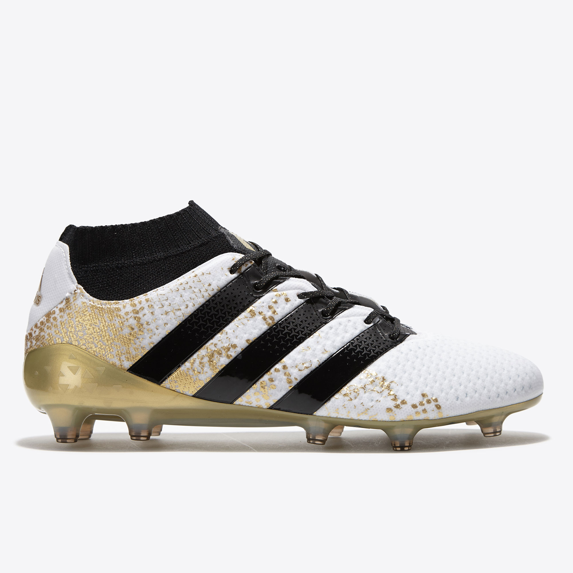 Image of adidas Ace 16.1 PrimeKnit Firm Ground Football Boots - White/Core Blac