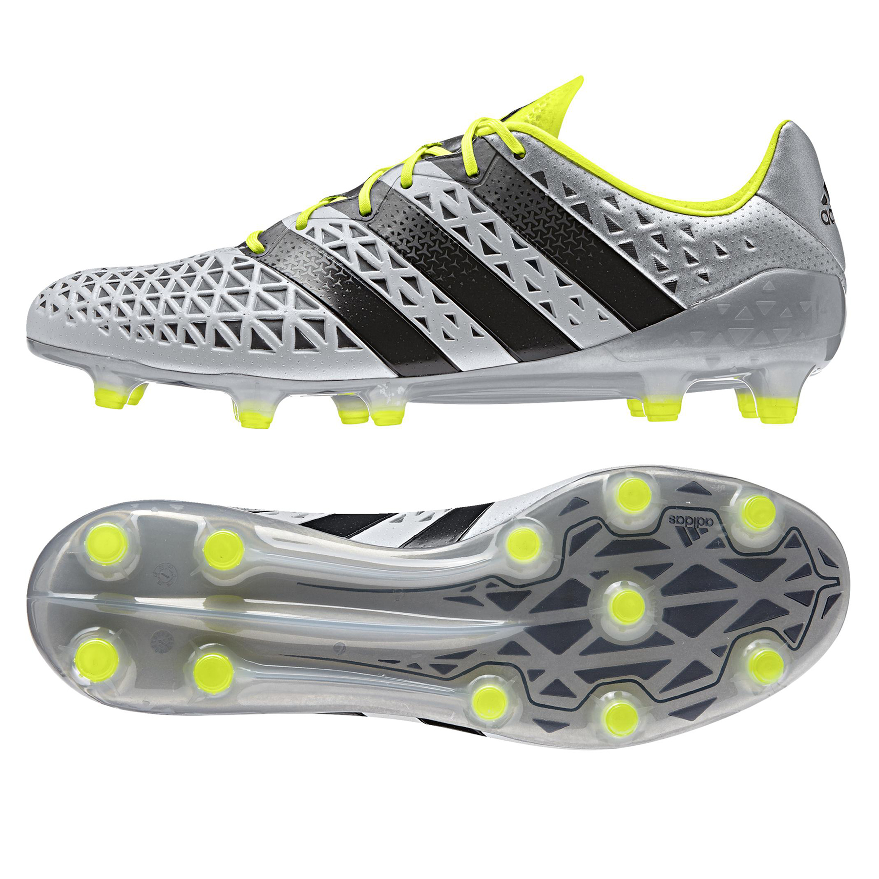 Image of adidas Ace 16.1 Firm Ground Football Boots - Silver Metallic/Core Blac