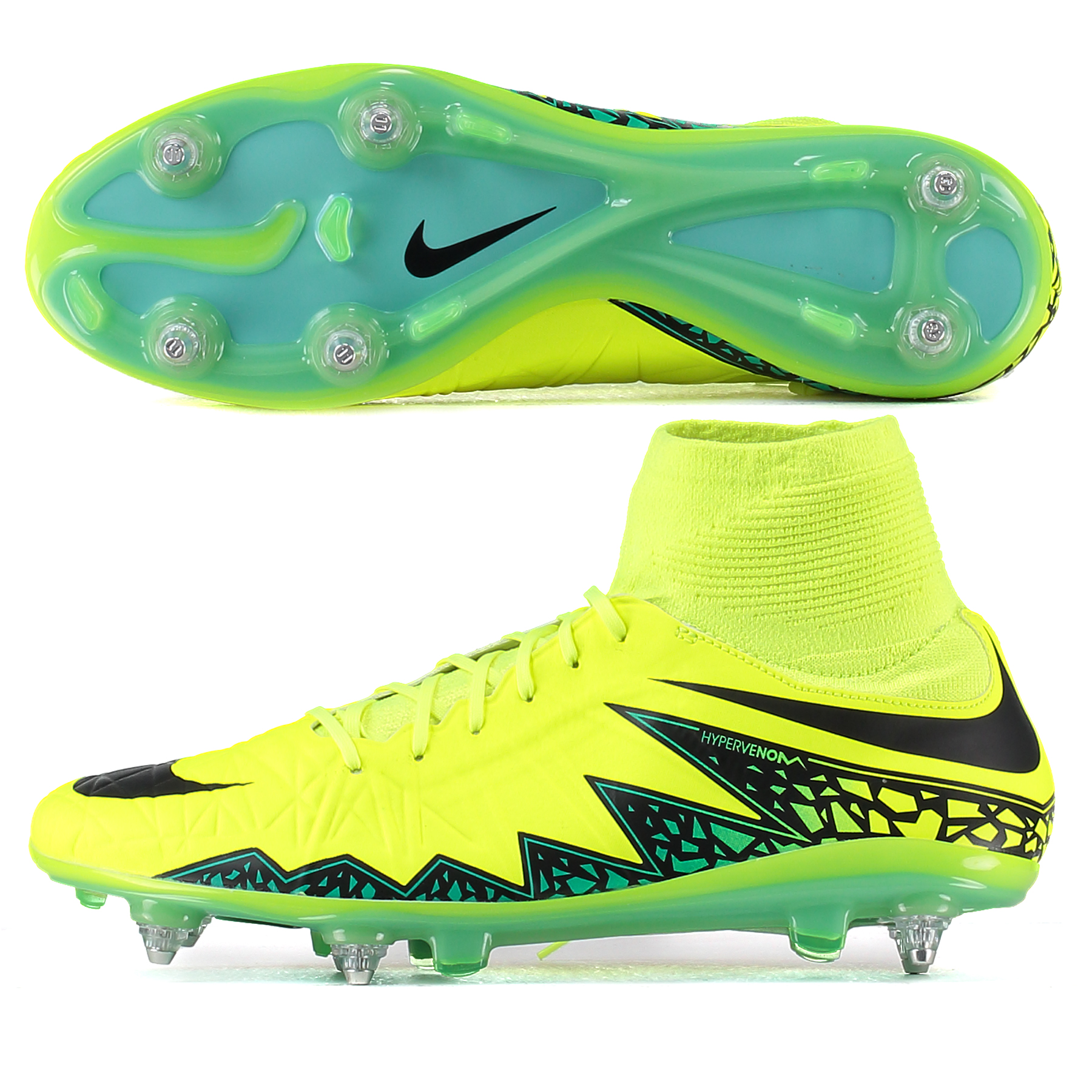 Nike Hypervenom Phatal II Df Soft Ground-Pro Football Boots - Volt/Bla