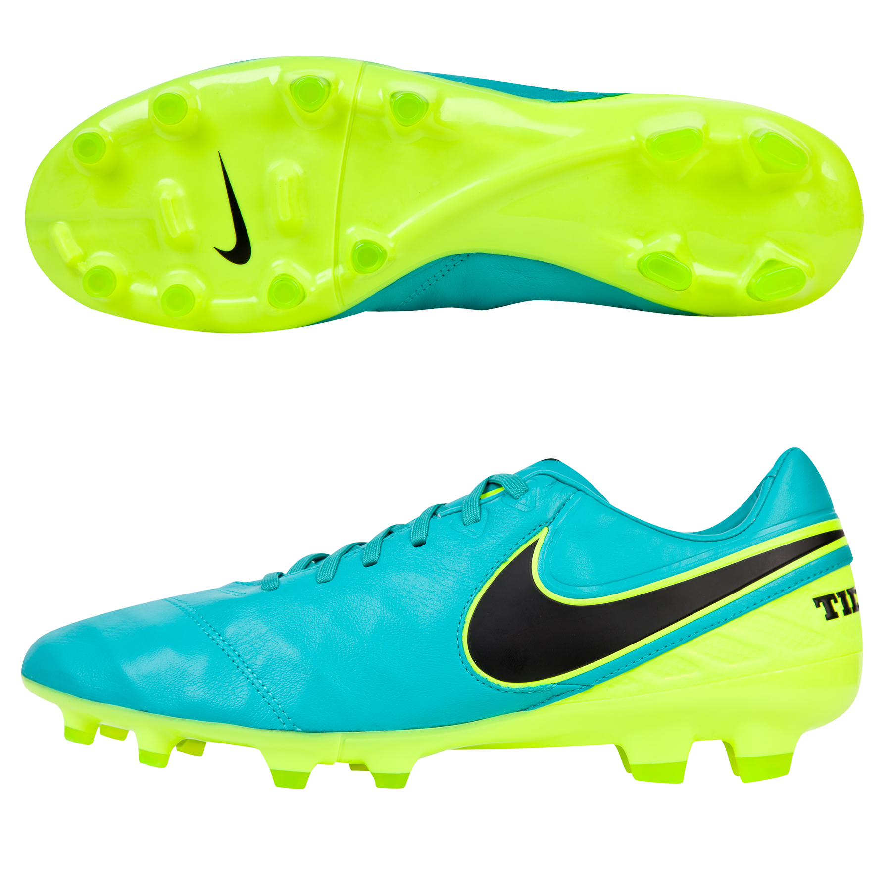 Nike Tiempo Legacy II Firm Ground Football Boots - Clear Jade/Black/Vo