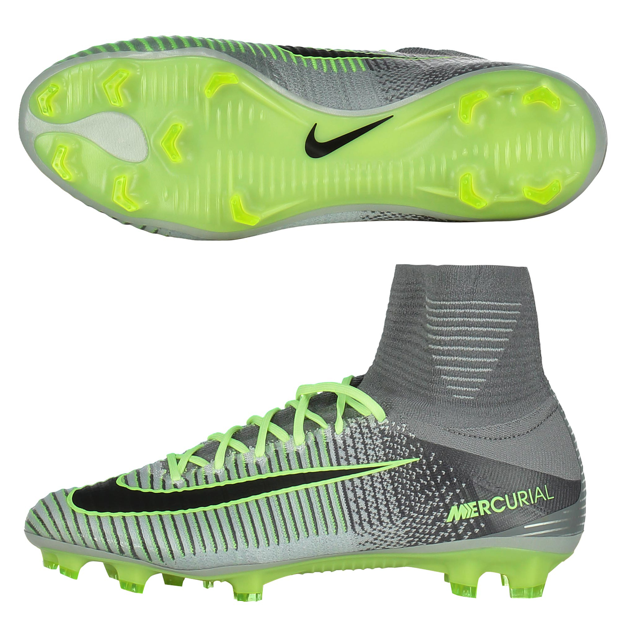 more photos a9ca3 dd0bf Nike Mercurial Superfly V Flyknit Elite Pack FG Football Boots Grey
