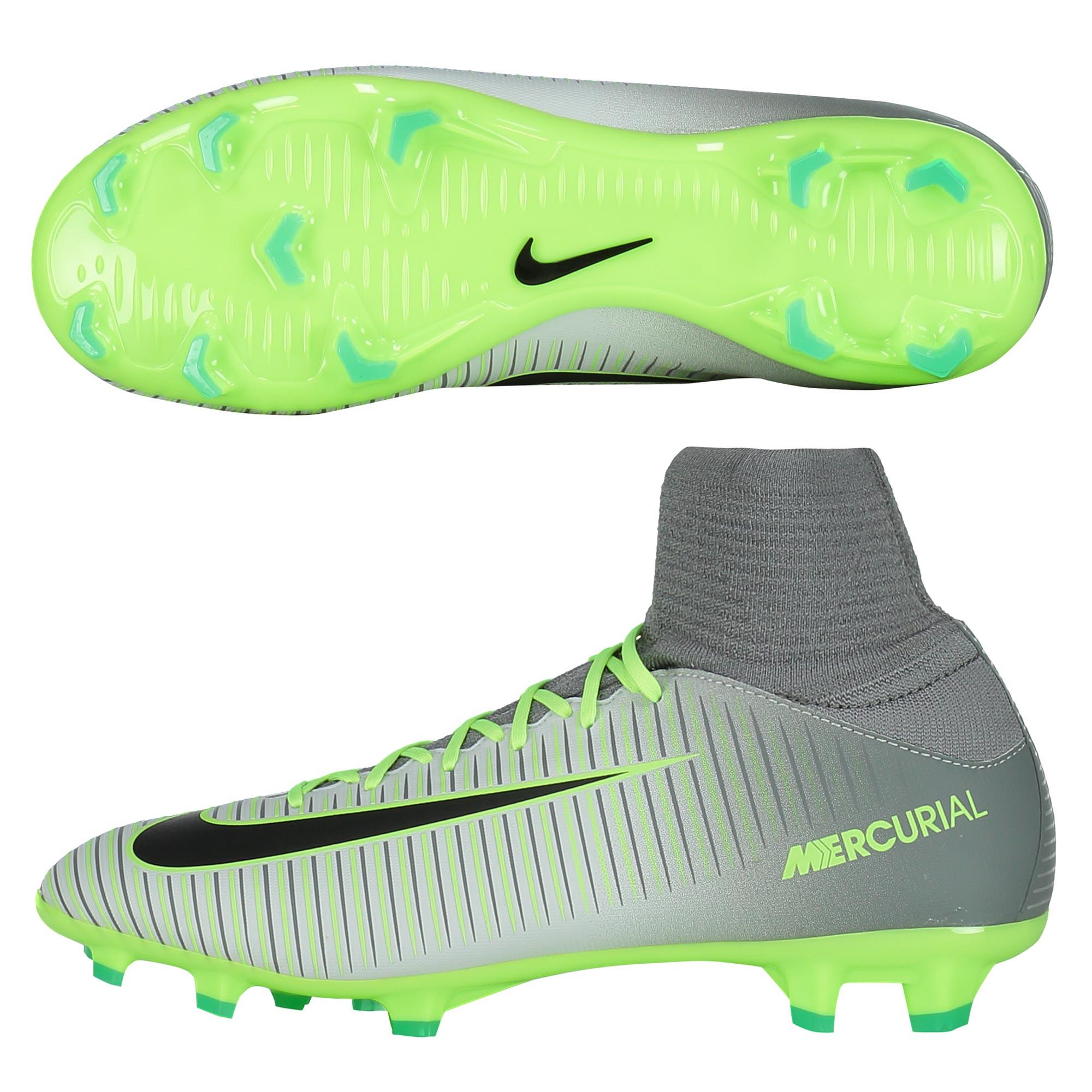 size 40 709b5 e6e50 Nike Mercurial Superfly V Flyknit Elite Pack FG Kids Football Boots Grey