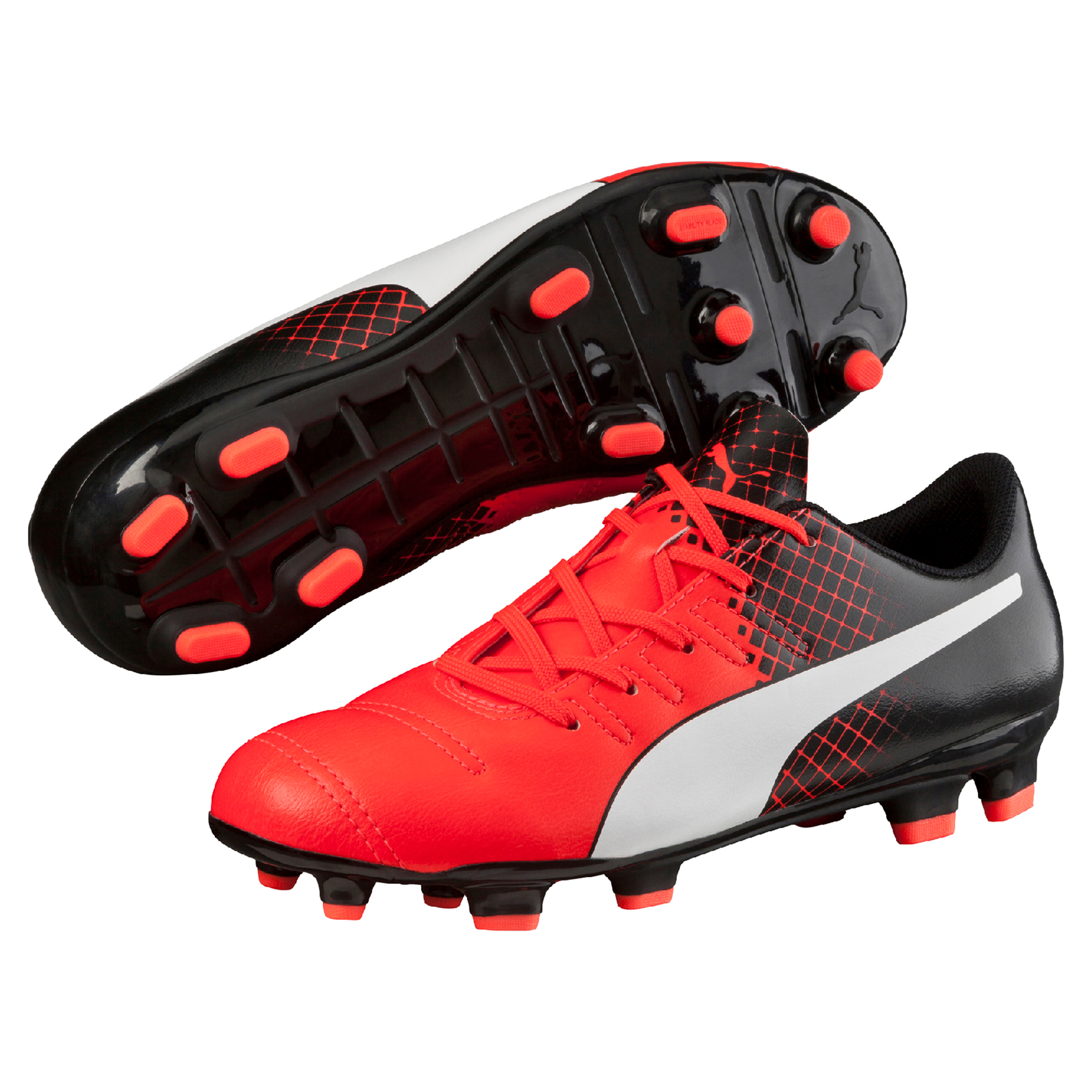 Puma evoPOWER 4.3 FG Red Blast/Puma White/Pu
