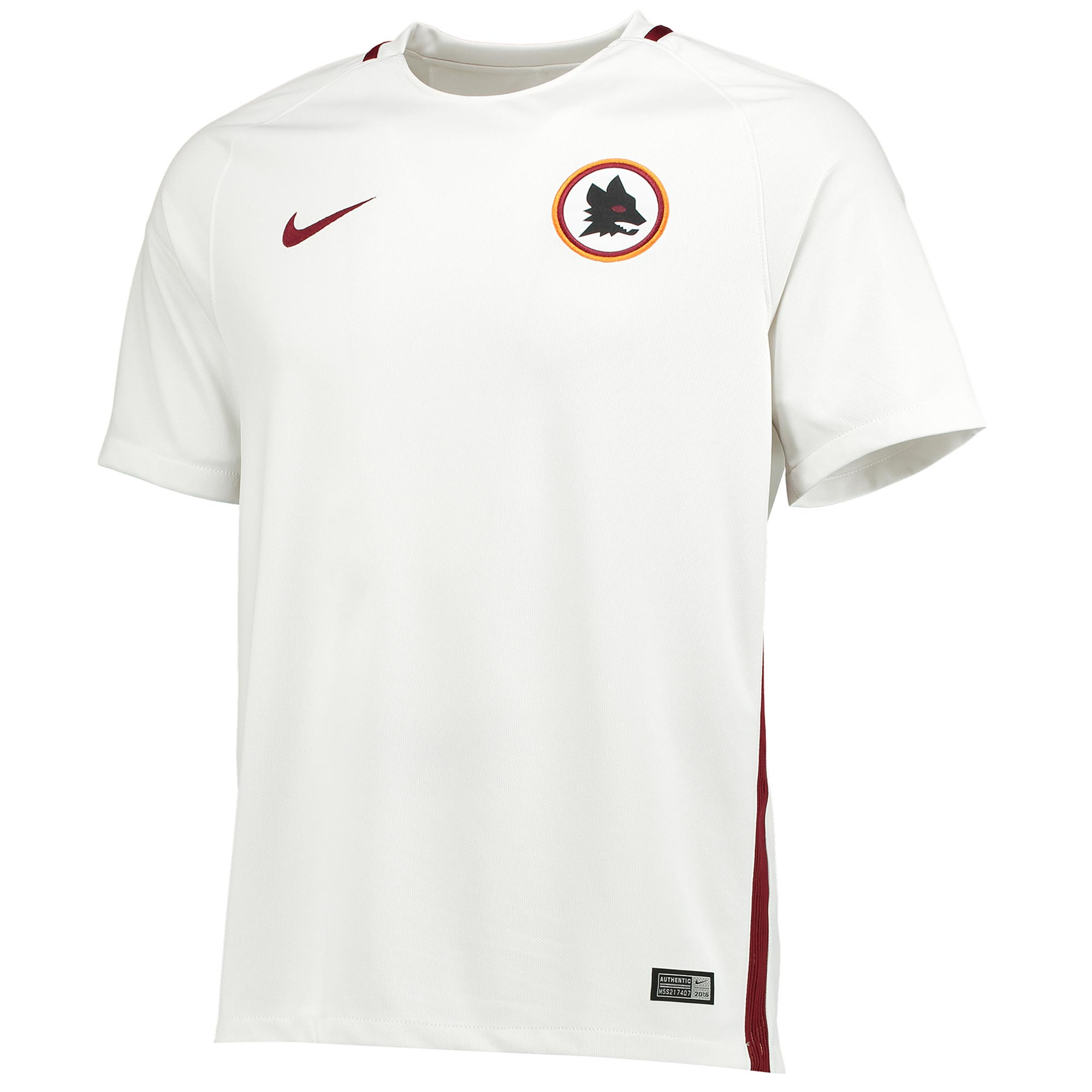 Image of AS Roma Away Shirt 2016-17 - Kids with De Rossi 16 printing, White