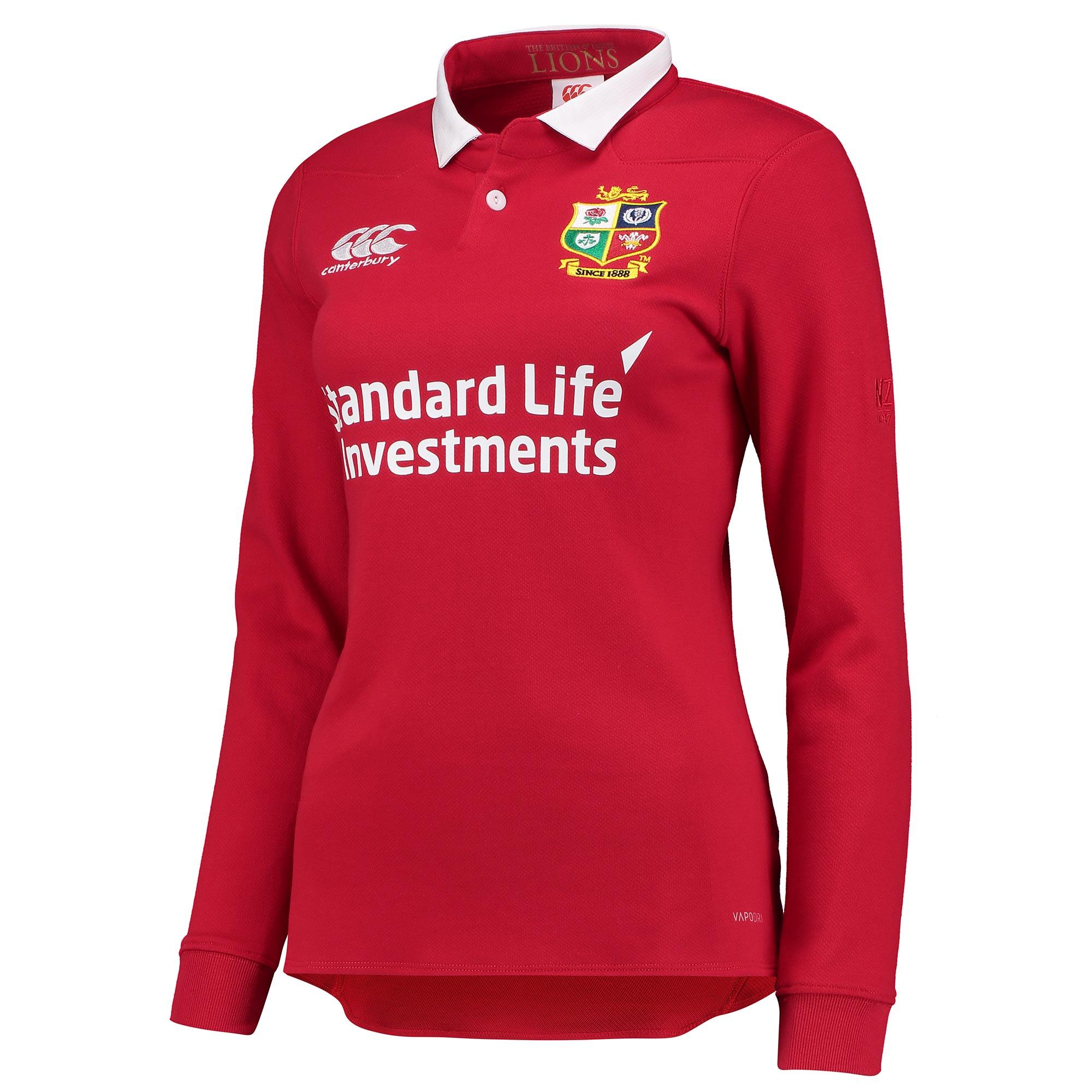 British & Irish Lions Vapodri Matchday Classic Shirt - Long Sleeve - W