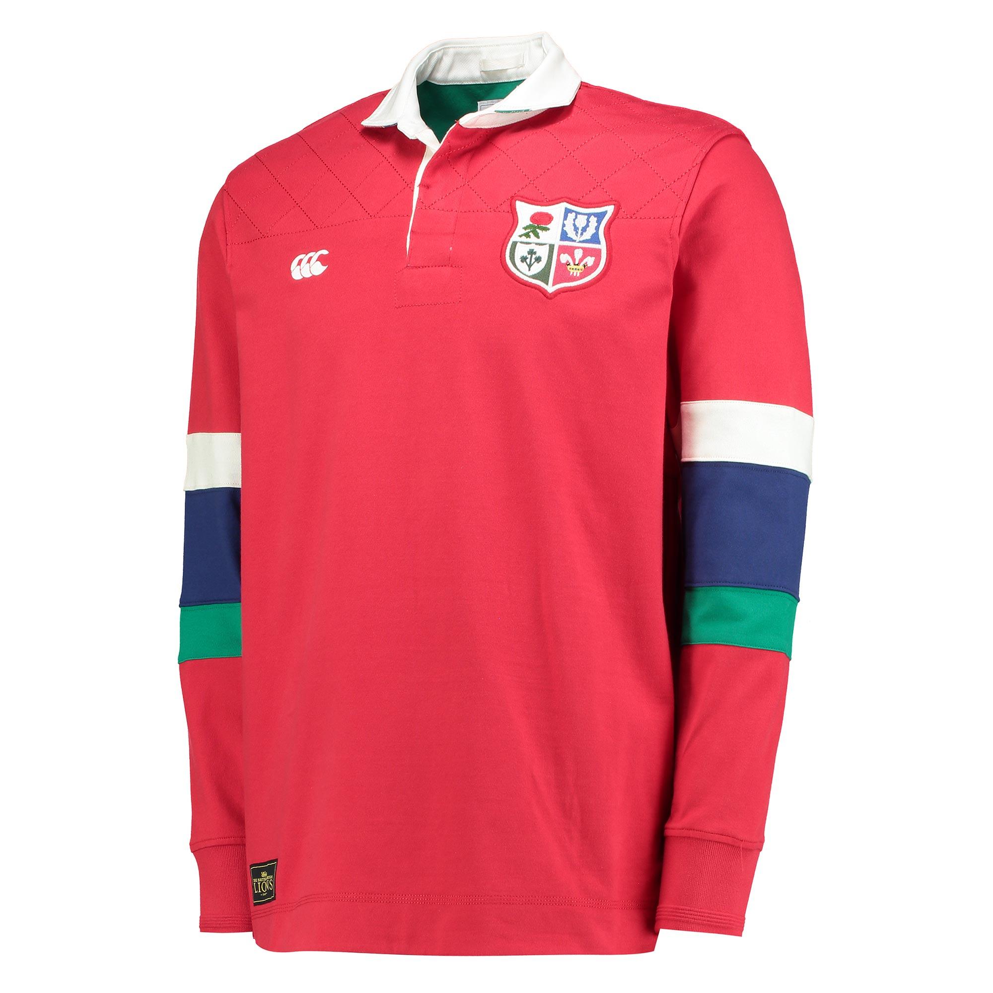 """Image of """"British & Irish Lions Rugby Shirt - Tango Red"""""""