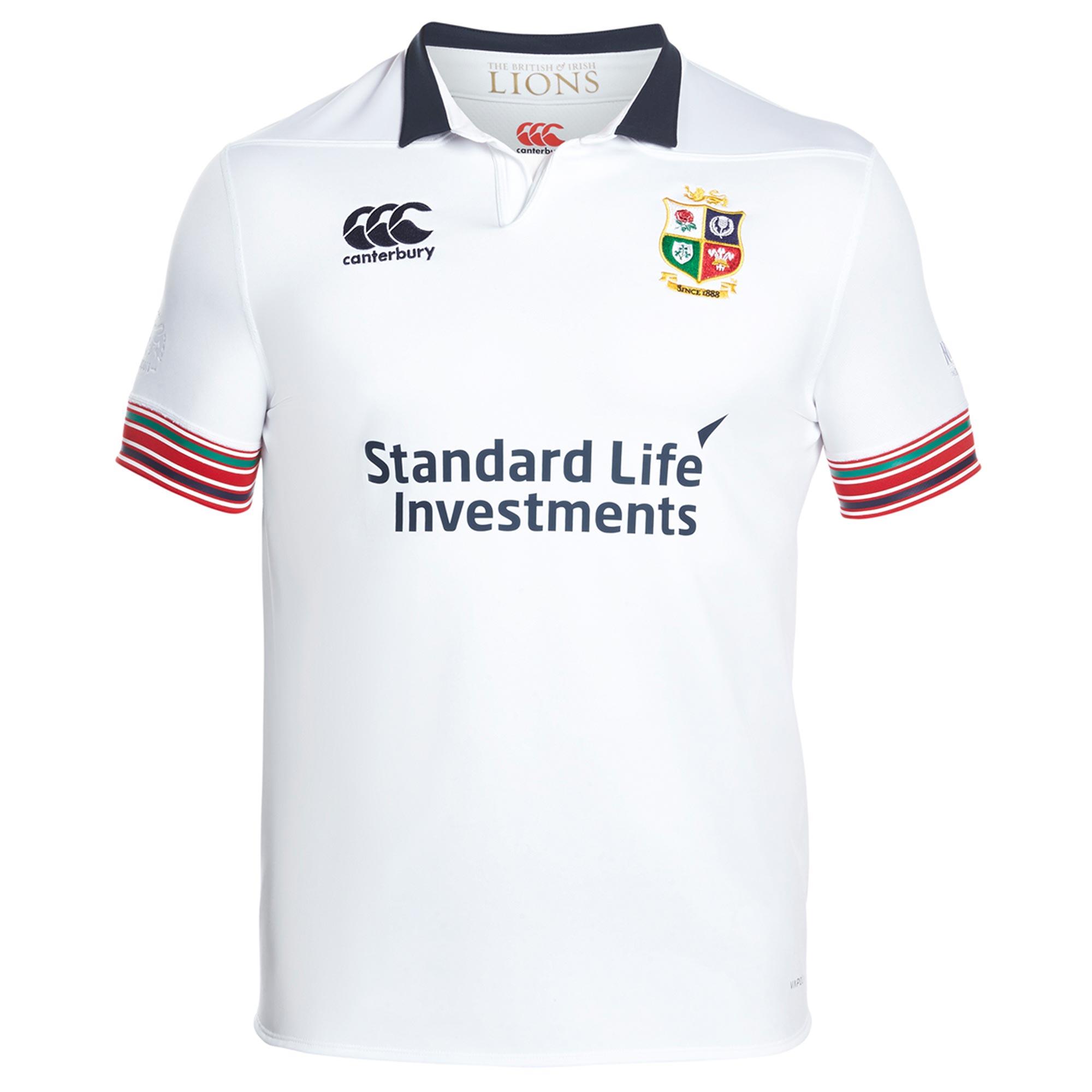 British & Irish Lions Pro Training Rugby Shirt - Bright White